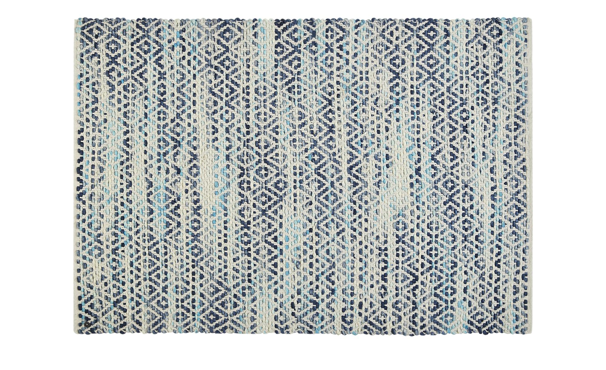 Tom Tailor Handwebteppich  Diamond ¦ blau ¦ 80 % Wolle und 20 % Baumwolle ¦ Maße (cm): B: 160 Teppiche > Wohnteppiche - Höffner