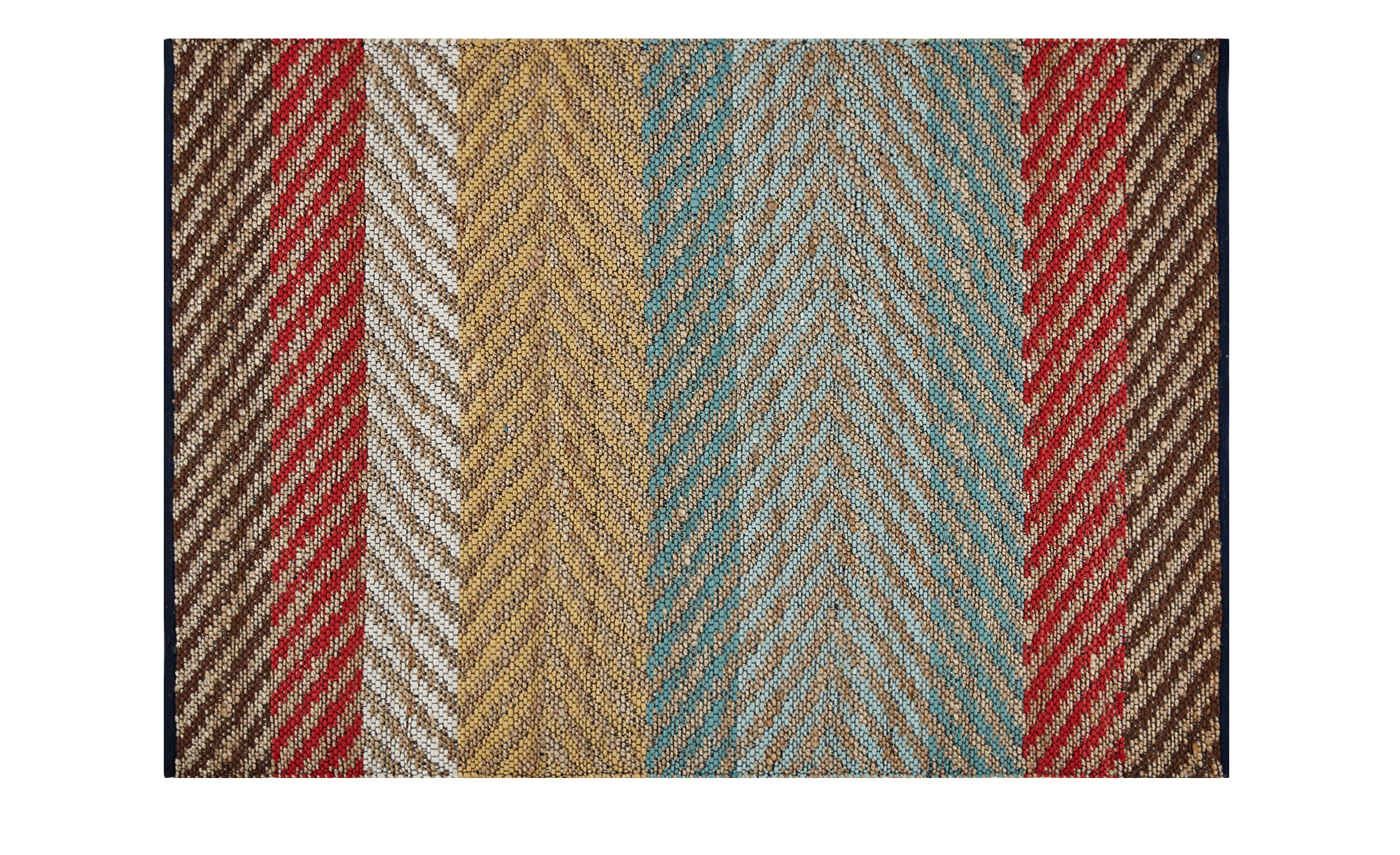 Tom Tailor Handweber-Teppich  Pastel Stripe ¦ mehrfarbig ¦ 60 % Baumwolle, 40 % Jute ¦ Maße (cm): B: 65 Teppiche > Wohnteppiche - Höffner