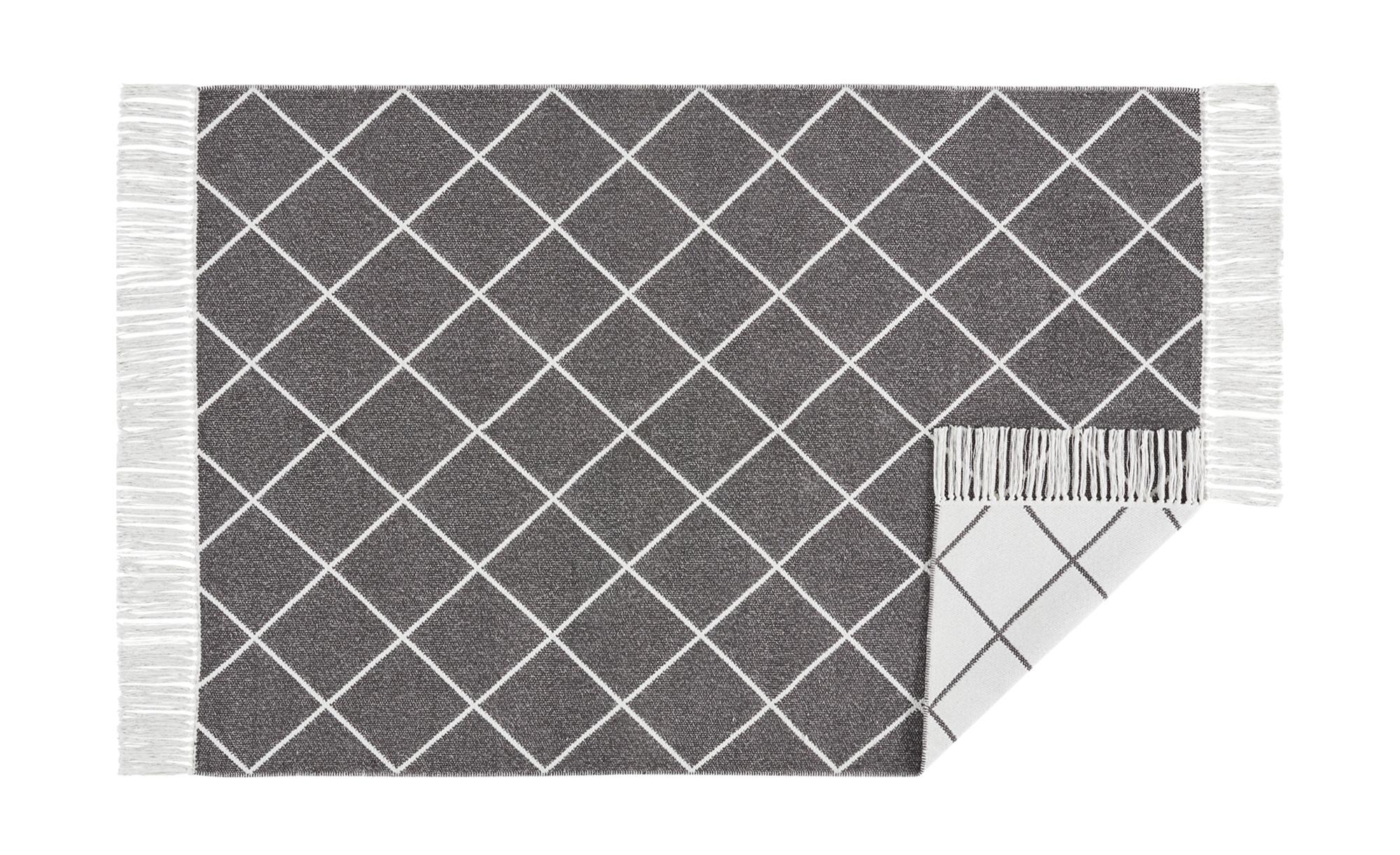 Handwebteppich  Glitter ¦ grau ¦ 99% Baumwolle, 1% Lurex ¦ Maße (cm): B: 140 Teppiche > Auslegware - Höffner