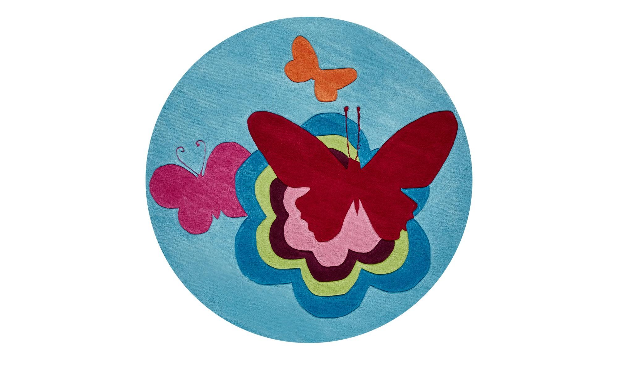 Esprit Handtuft-Teppich  Butterflies ¦ mehrfarbig ¦ Synthethische Fasern, 100 % PolyacrylØ: [100.0] Teppiche > Kinderteppiche - Höffner