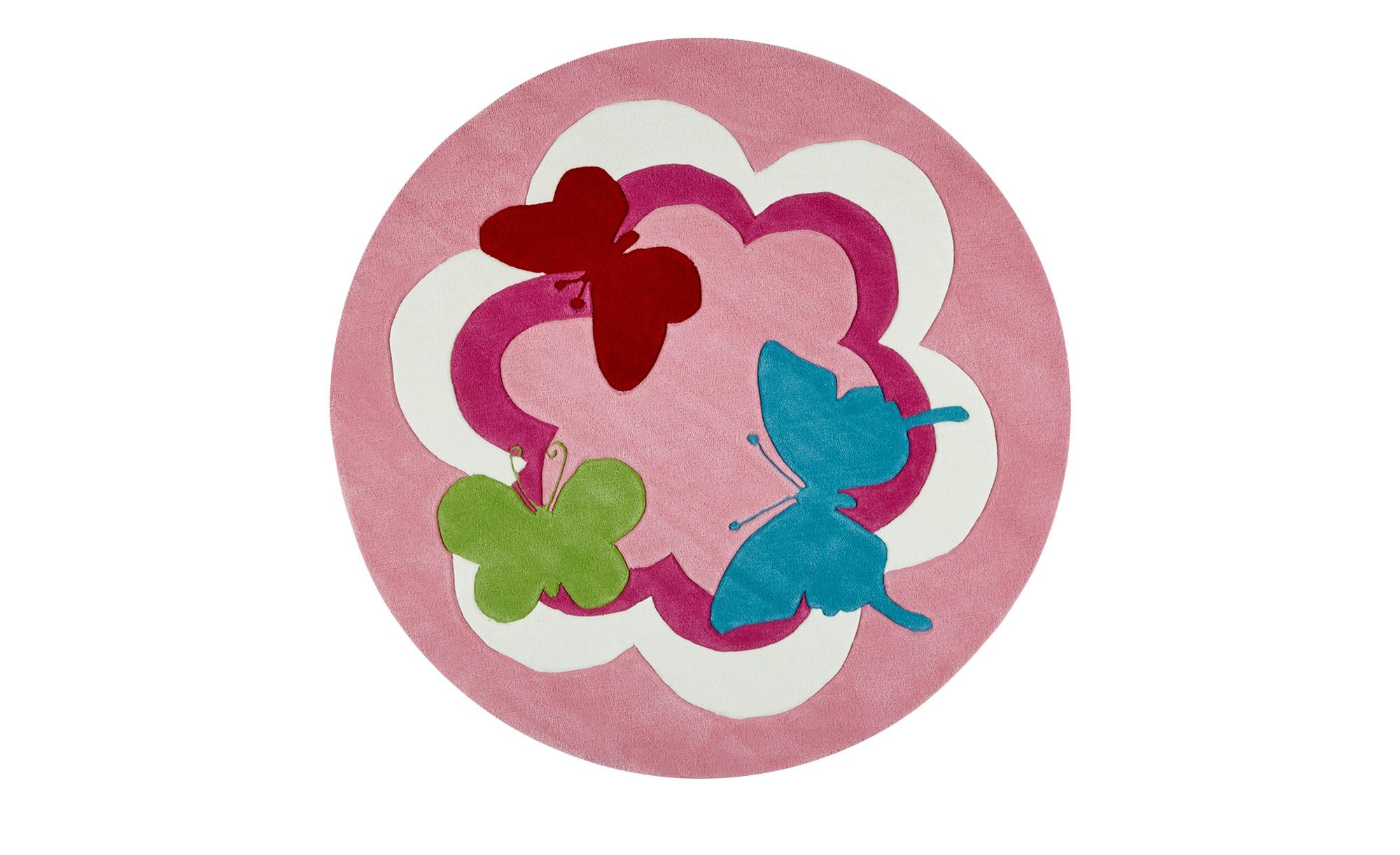Esprit Handtuft-Teppich  Butterfly Party ¦ rosa/pink ¦ 100 % AcrylØ: [100.0] Teppiche > Wohnteppiche - Höffner