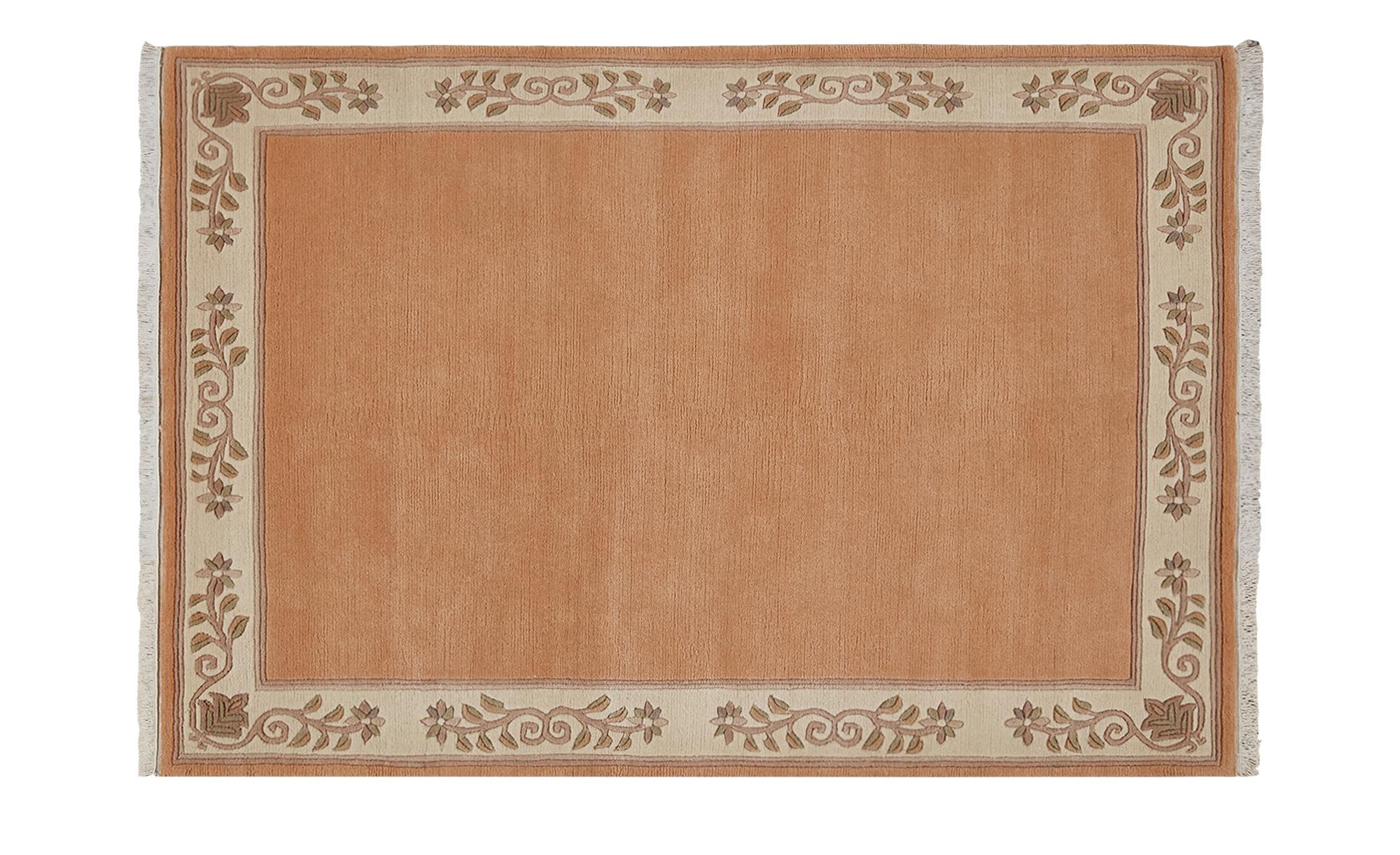 Nepal-Teppich  Classica ¦ orange ¦ 100 % Neuseelandwolle ¦ Maße (cm): B: 70 Teppiche > Wohnteppiche - Höffner