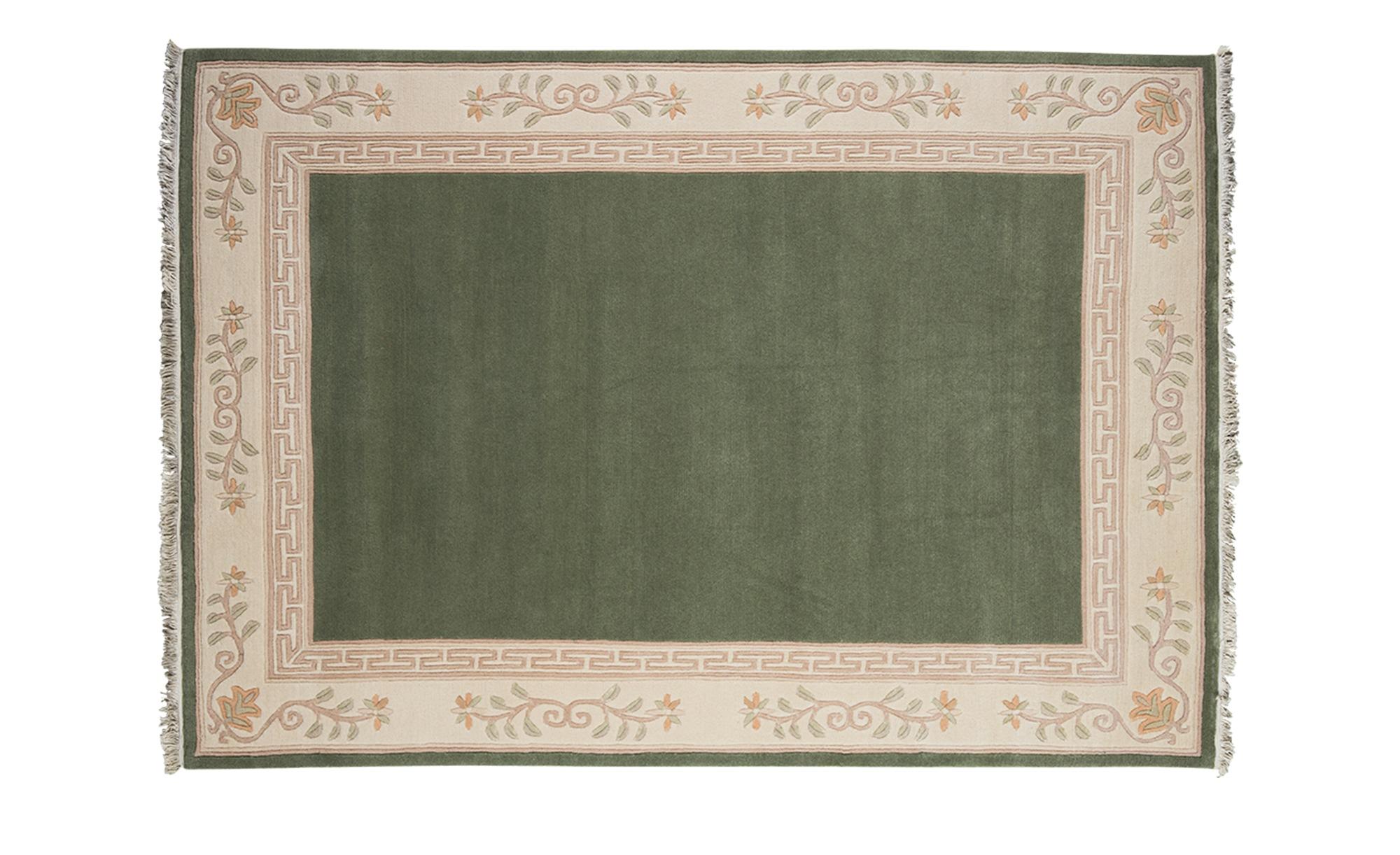 Nepal-Teppich  Classica ¦ grün ¦ 100 % Neuseelandwolle ¦ Maße (cm): B: 170 Teppiche > Wohnteppiche - Höffner