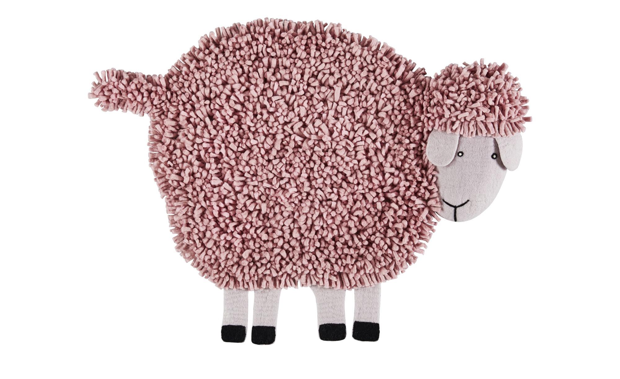 Nepal-Teppich  Emma ¦ rosa/pink ¦ 100% nepalesische gewalkte Wolle, Wolle ¦ Maße (cm): B: 85 Teppiche > Kinderteppiche - Höffner