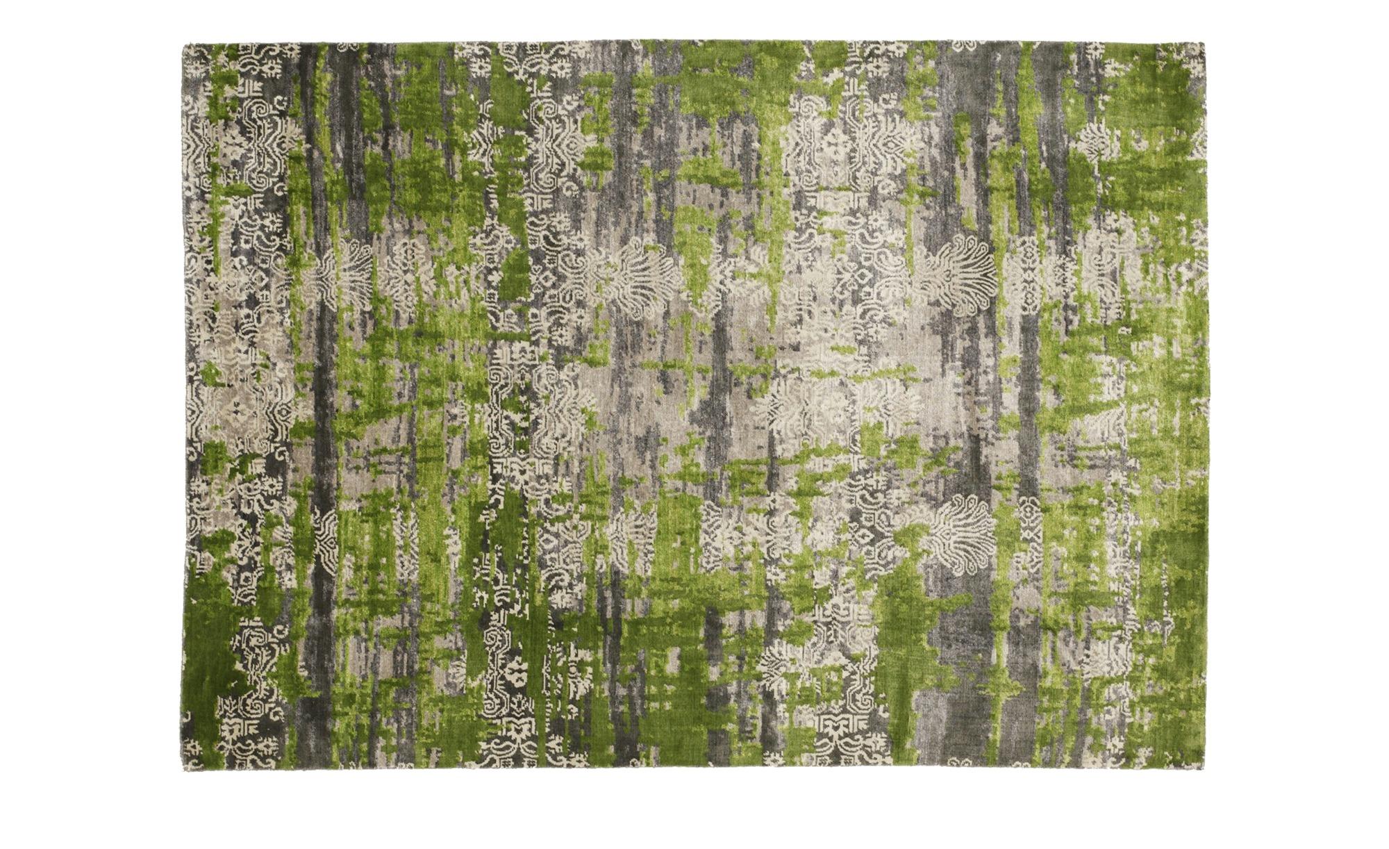 Moderner Teppich in Grau und Grün