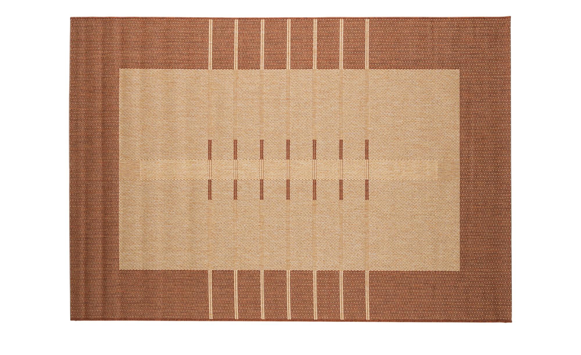 Webteppich  Nizza ¦ orange ¦ 100 % Polypropylen, Synthethische Fasern ¦ Maße (cm): B: 120 Teppiche > Wohnteppiche > Kurzflorteppiche - Höffner