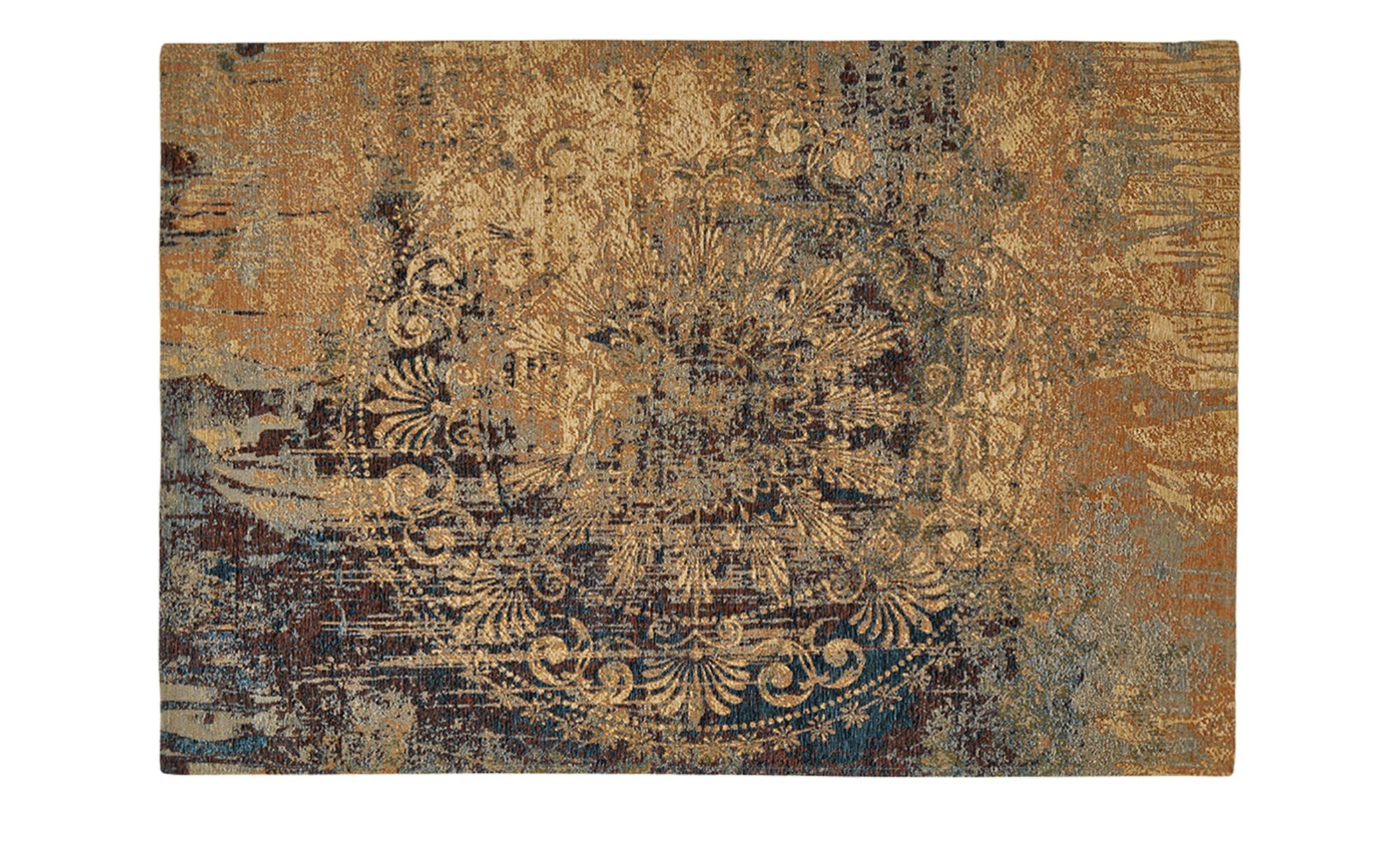 Webteppich  Antique ¦ blau ¦ 55% Acryl-Chenille, 27% Polyester, 18% Baumwolle, Synthethische Fasern ¦ Maße (cm): B: 160 Teppiche > Wohnteppiche > Vintage Teppiche - Höffner