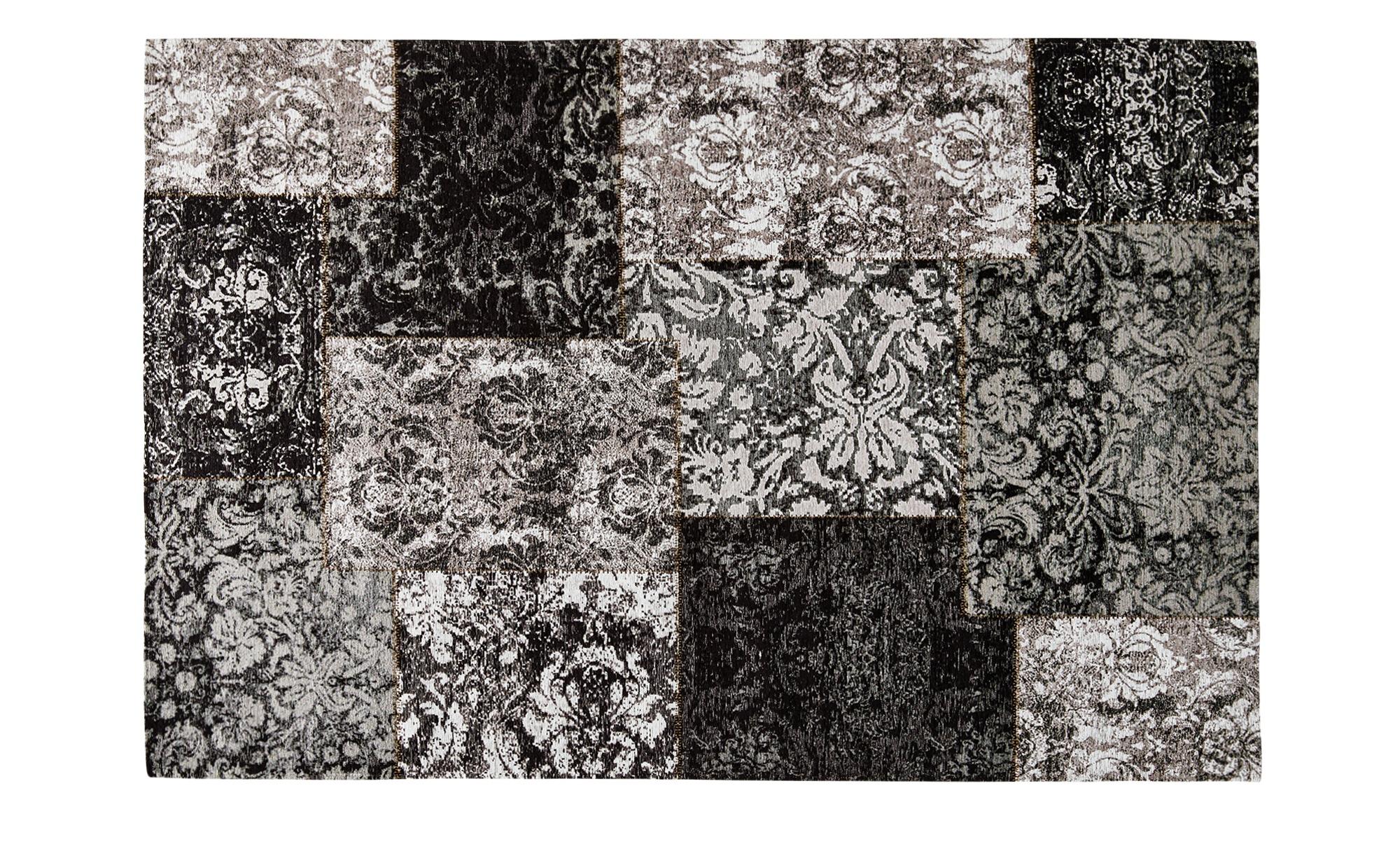 Webteppich  Antique ¦ schwarz ¦ 55% Acryl-Chenille, 27% Polyester, 18% Baumwolle, Synthethische Fasern ¦ Maße (cm): B: 80 Teppiche > Wohnteppiche > Vintage Teppiche - Höffner