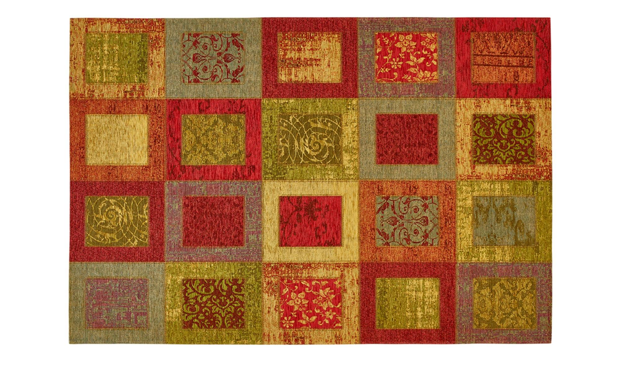 Webteppich  Harmonie ¦ mehrfarbig ¦ 34% Chenille Acryl, 33% Baumwolle, 33% Polyester ¦ Maße (cm): B: 155 Teppiche > Wohnteppiche - Höffner