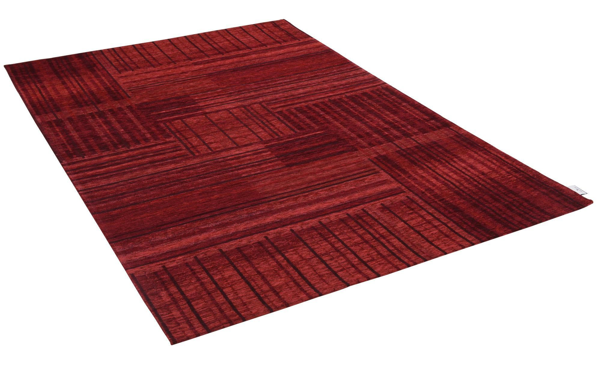 Tom Tailor Webteppich  Living ¦ rot ¦ 36% Chenille Acryl, 34%Polyester, 30%Baumwolle ¦ Maße (cm): B: 50 Teppiche > Wohnteppiche - Höffner