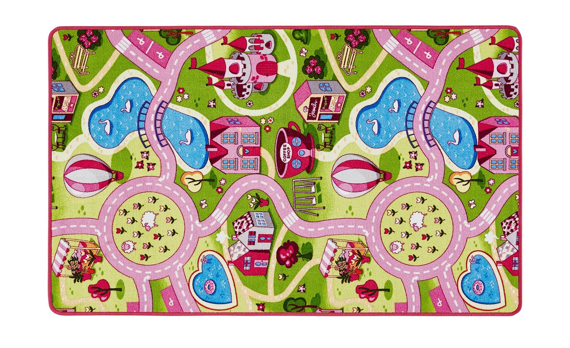 for friends Webteppich  Sweet Village ¦ mehrfarbig ¦ 100 % Polyamid ¦ Maße (cm): B: 100 Teppiche > Kinderteppiche - Höffner