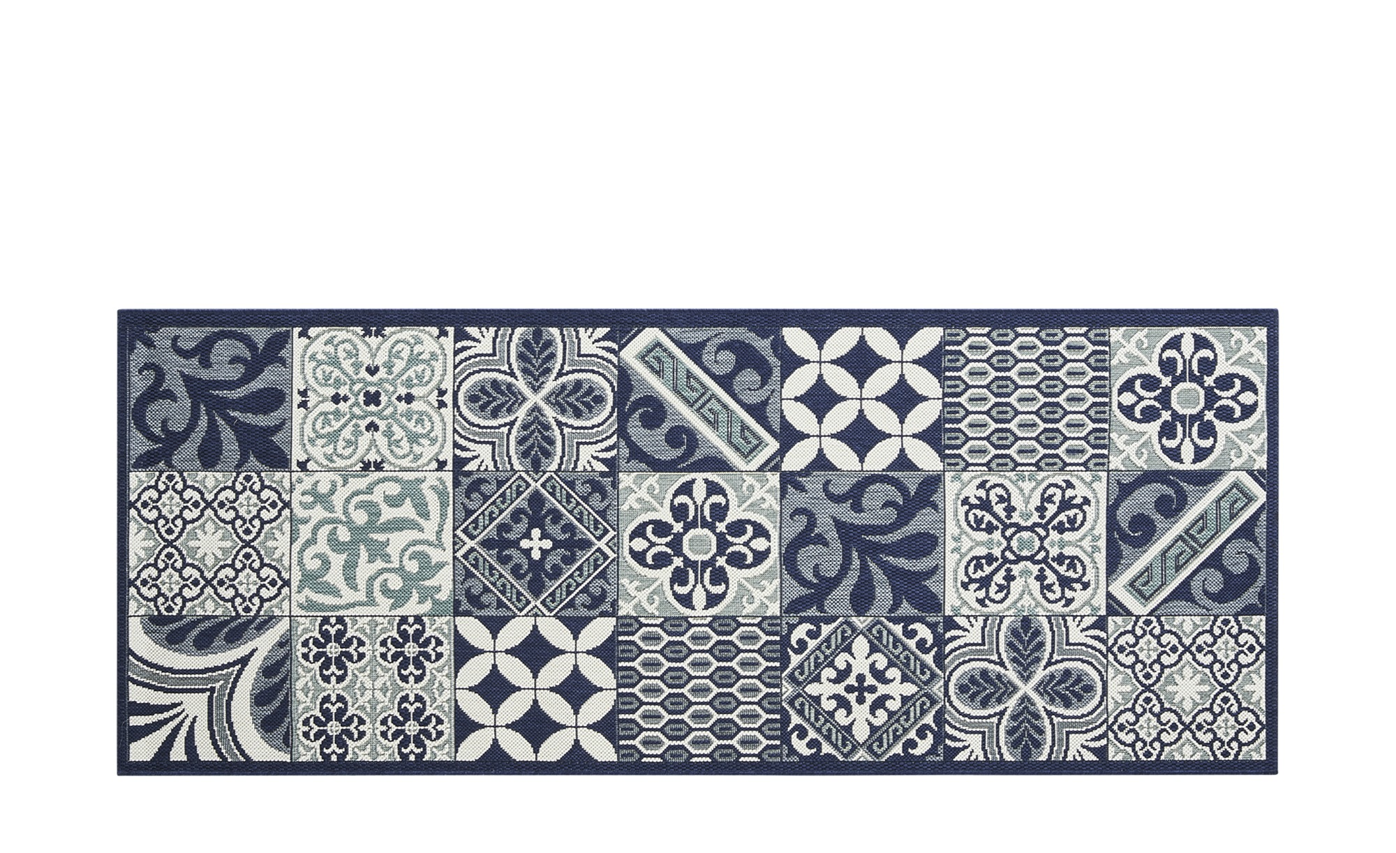 Küchenläufer  Greek Island ¦ blau ¦ 100 % Polypropylen ¦ Maße (cm): B: 80 Teppiche > Wohnteppiche - Höffner