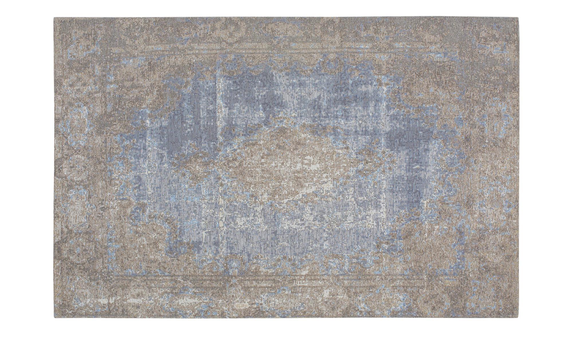 Webteppich  Romance 1200 ¦ blau ¦ 34% Baumwolle, 33% Polyester, 33% Chenille Acryl ¦ Maße (cm): B: 80 Teppiche > Wohnteppiche - Höffner