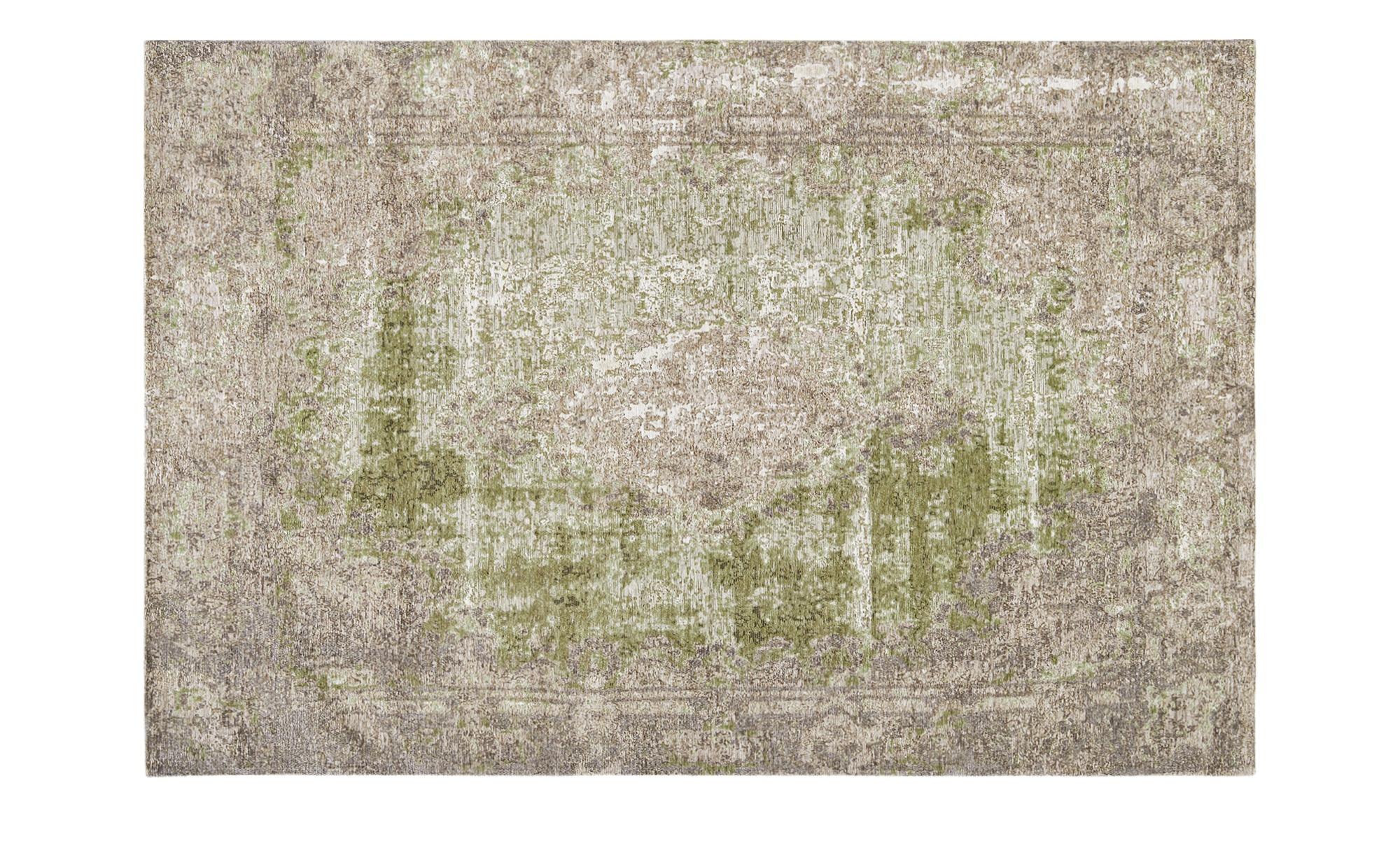 Webteppich  Romance 1200 ¦ grün ¦ 34% Baumwolle, 33% Polyester, 33% Chenille Acryl ¦ Maße (cm): B: 68 Teppiche > Wohnteppiche - Höffner