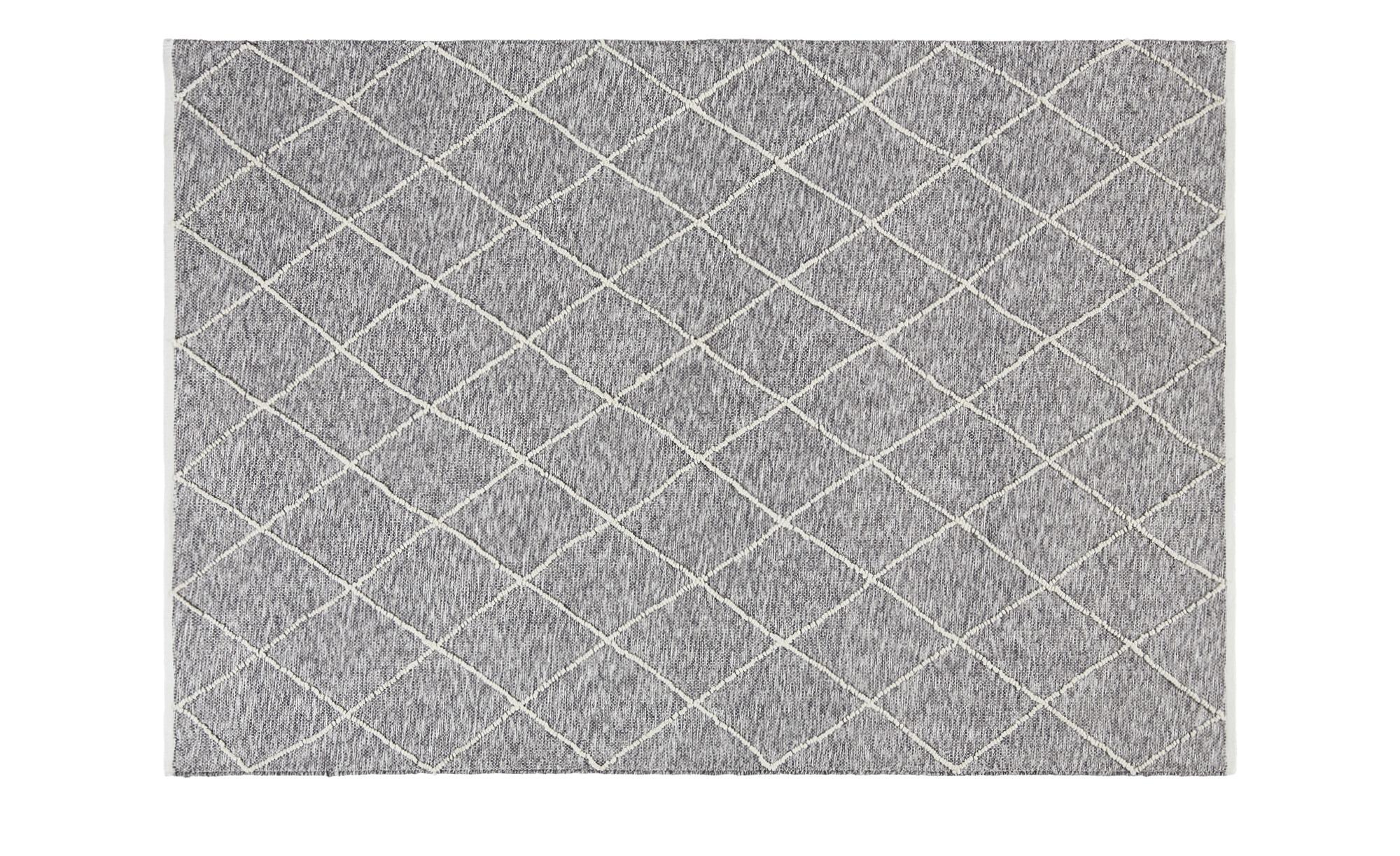 Handwebteppich  Pantin ¦ grau ¦ 100 % Baumwolle, Baumwolle ¦ Maße (cm): B: 170 Teppiche > Wohnteppiche - Höffner