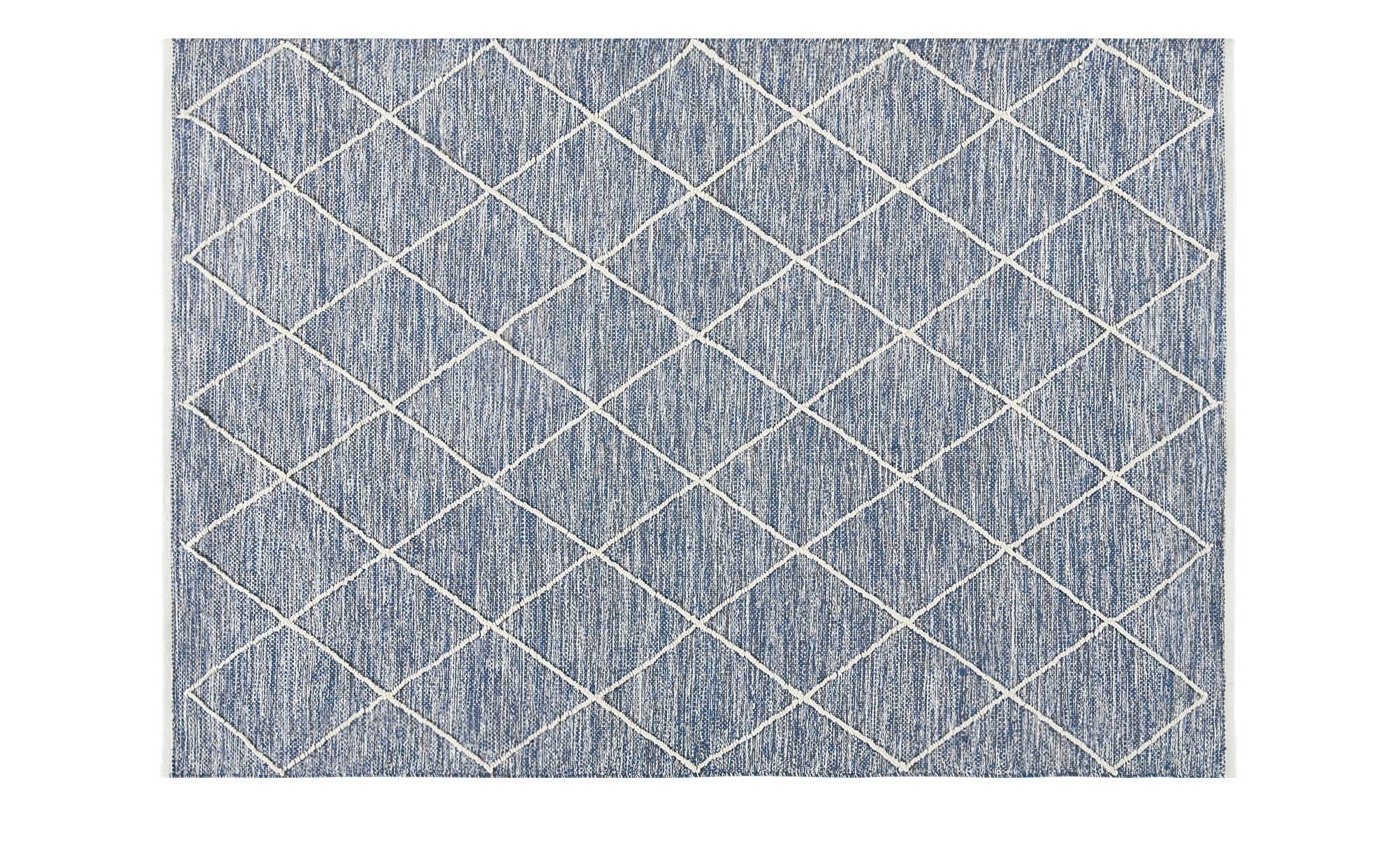 Handgewebter Naturteppich  Pantin ¦ blau ¦ Baumwolle, 100% Baumwolle ¦ Maße (cm): B: 140 Teppiche > Wohnteppiche > Naturteppiche - Höffner