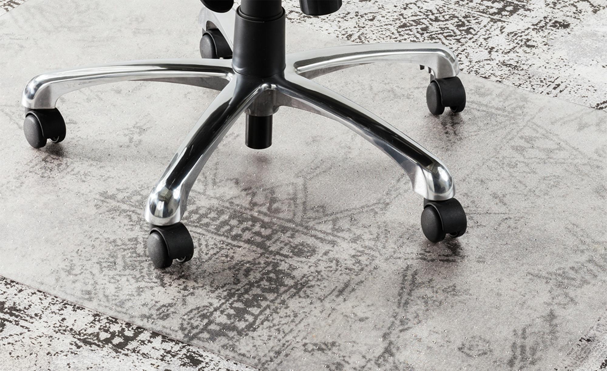 Bürostuhlunterlage mit Noppen ¦ transparent/klar ¦ 100 % Polyethylen (PET) ¦ Maße (cm): B: 90 Teppiche > Teppichzubehör - Höffner