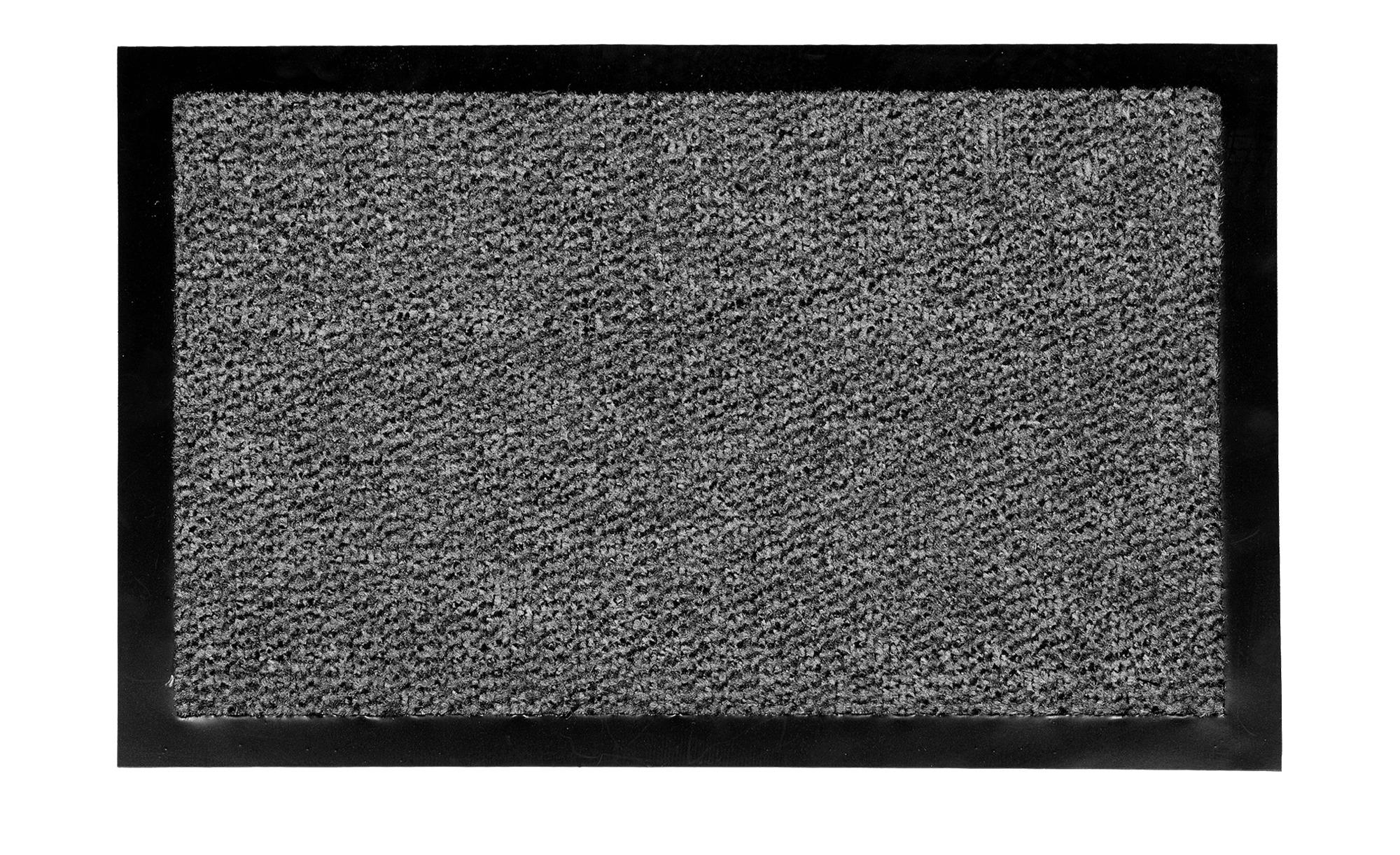 Fußmatte  Granat ¦ grau ¦ Synthethische Fasern, 100% Polypropylen ¦ Maße (cm): B: 40 Teppiche > Fußmatten & Stufenmatten - Höffner