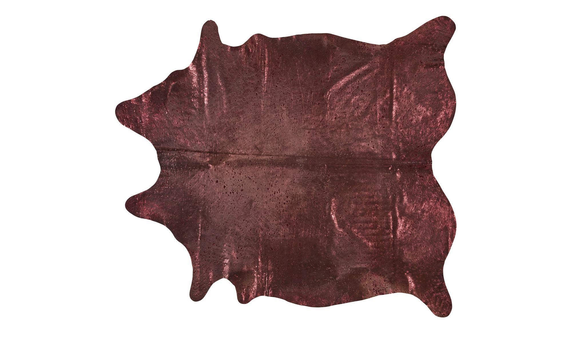 Rinderfell - Unikat  Pop Art ¦ rot ¦ Rinderfell Teppiche > Wohnteppiche - Höffner