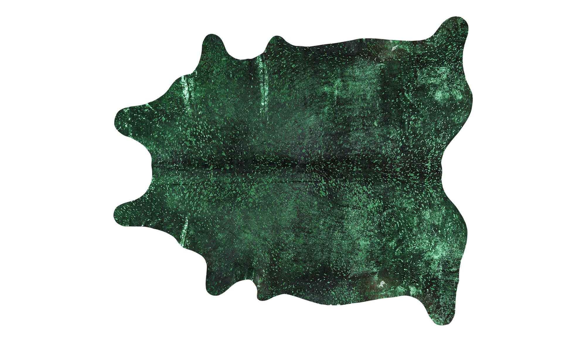 Rinderfell - Unikat  Pop Art ¦ grün ¦ Rinderfell Teppiche > Auslegware - Höffner