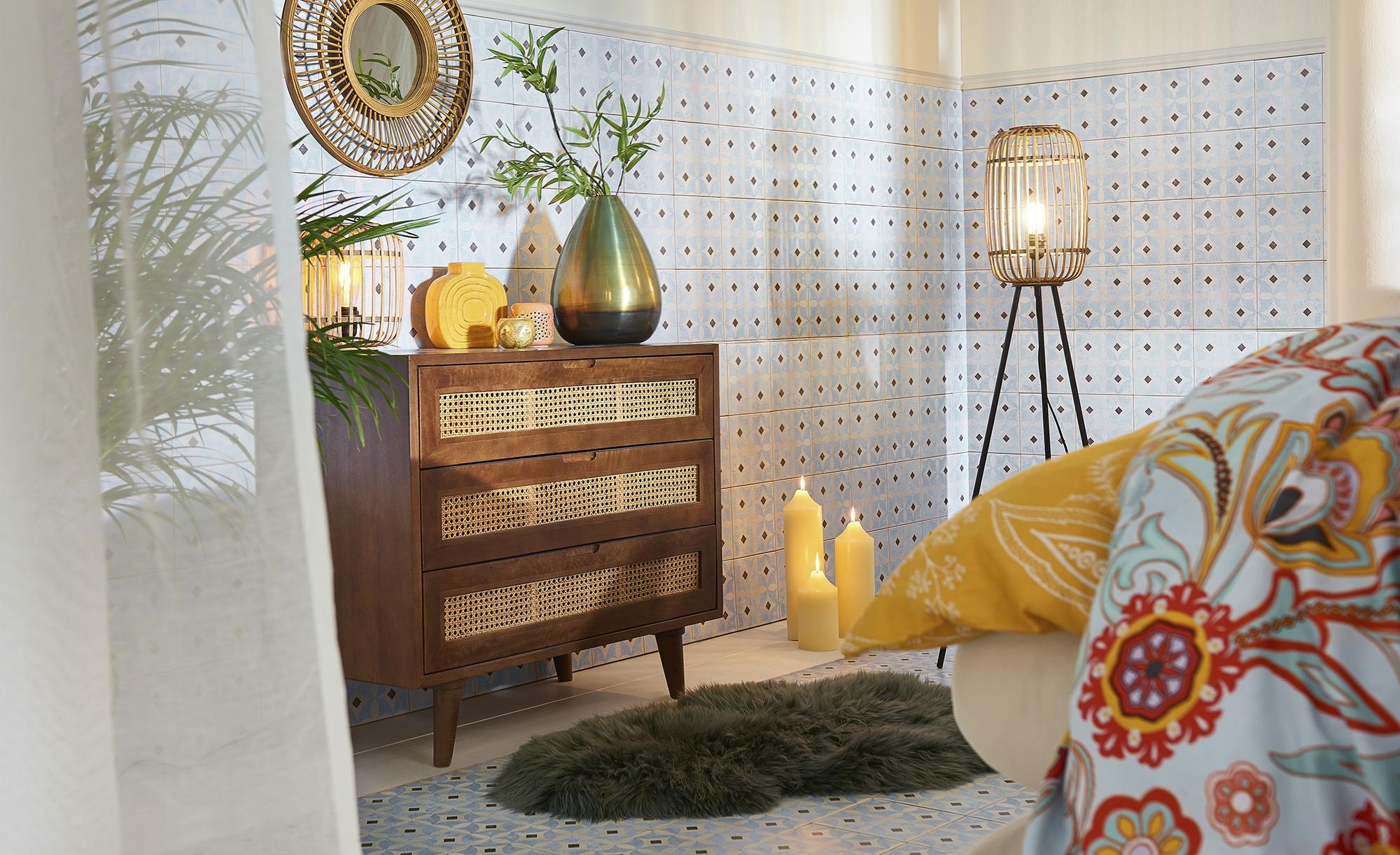 Lammfell in Grün