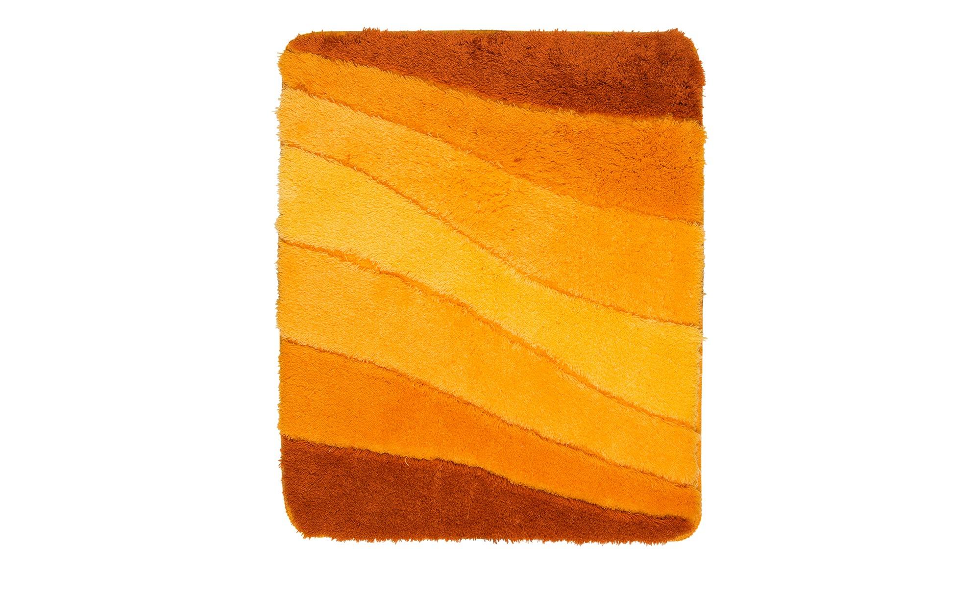 MEUSCH Badteppich  Ocean ¦ orange ¦ 100% Polyacryl ¦ Maße (cm): B: 55 Badtextilien und Zubehör > Badematten & Badvorleger - Höffner