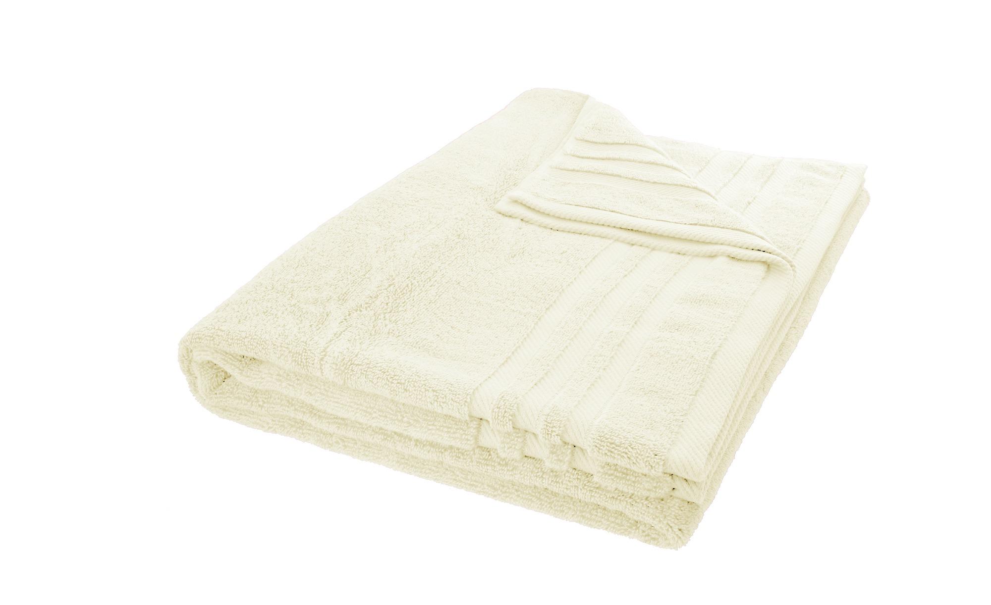 LAVIDA Badetuch  Soft Cotton ¦ creme ¦ reine Micro-Baumwolle ¦ Maße (cm): B: 100 Badtextilien und Zubehör > Handtücher & Badetücher > Badetücher & Saunatücher - Höffner