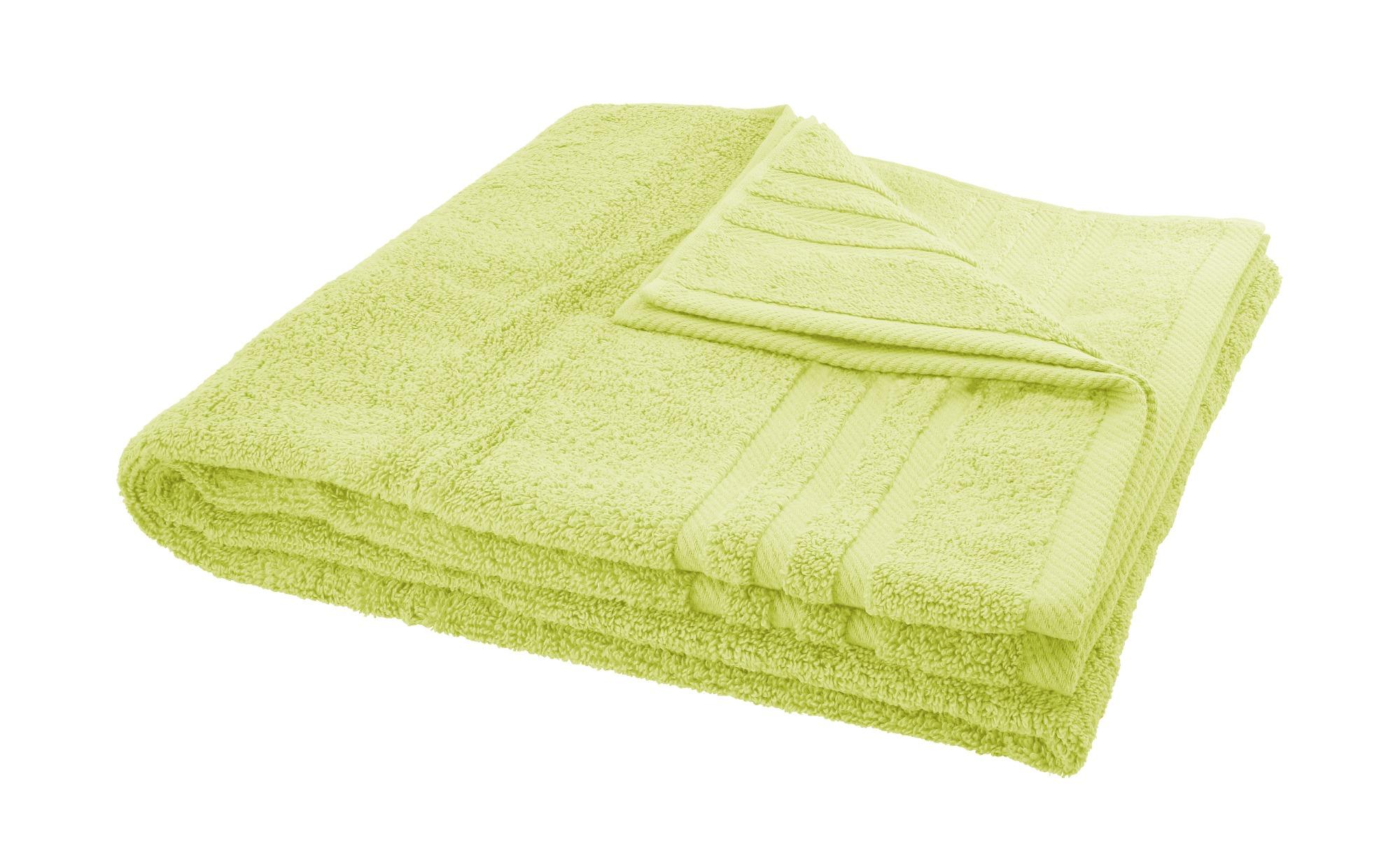 LAVIDA Duschtuch  Soft Cotton ¦ grün ¦ reine Micro-Baumwolle ¦ Maße (cm): B: 70 Badtextilien und Zubehör > Handtücher & Badetücher > Duschtücher - Höffner