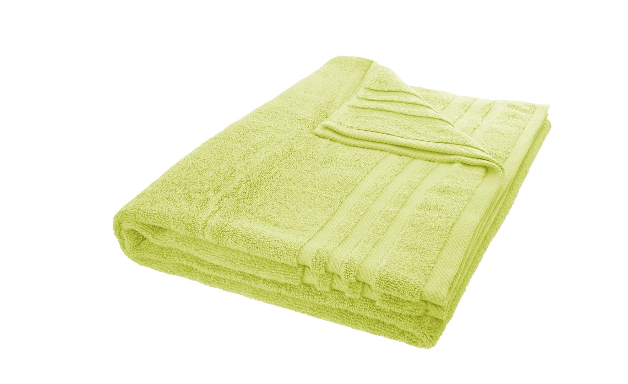 LAVIDA Badetuch  Soft Cotton ¦ grün ¦ reine Micro-Baumwolle ¦ Maße (cm): B: 100 Badtextilien und Zubehör > Handtücher & Badetücher > Badetücher & Saunatücher - Höffner
