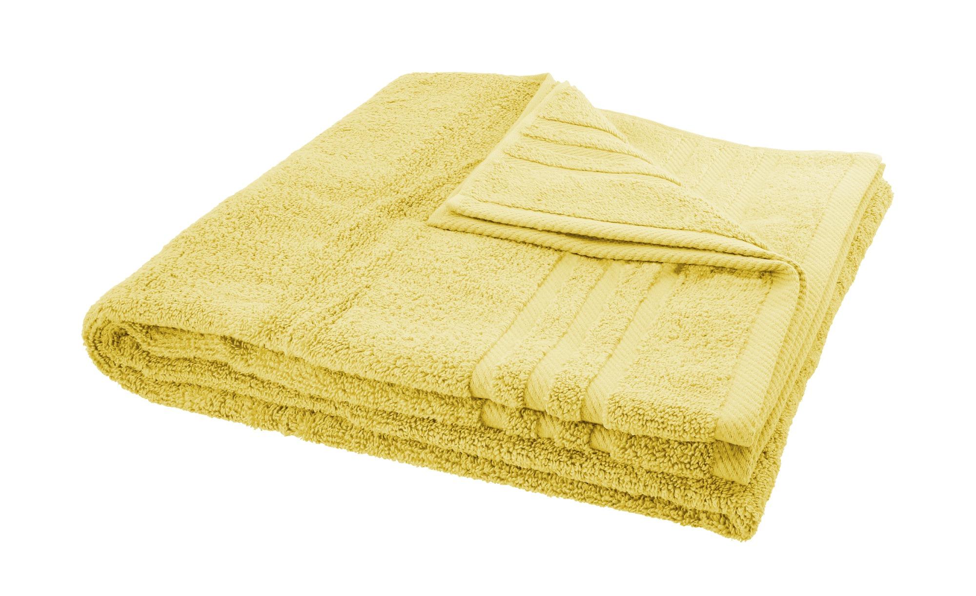LAVIDA Duschtuch  Soft Cotton ¦ gelb ¦ reine Micro-Baumwolle ¦ Maße (cm): B: 70 Badtextilien und Zubehör > Handtücher & Badetücher > Duschtücher - Höffner