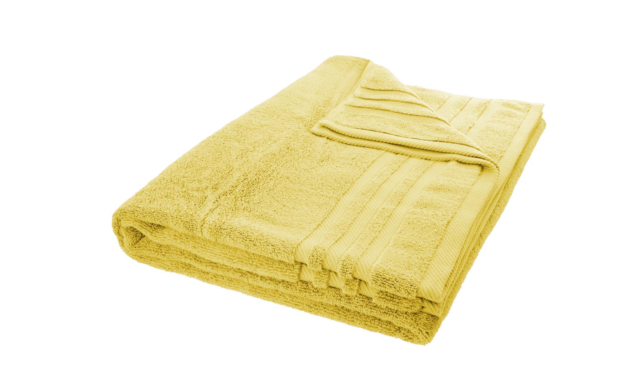 LAVIDA Badetuch  Soft Cotton ¦ gelb ¦ reine Micro-Baumwolle ¦ Maße (cm): B: 100 Badtextilien und Zubehör > Handtücher & Badetücher > Badetücher & Saunatücher - Höffner