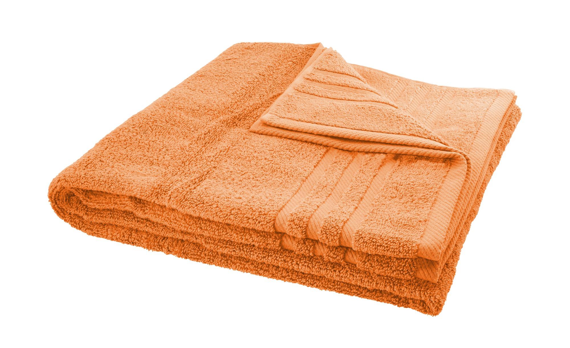 LAVIDA Duschtuch  Soft Cotton ¦ orange ¦ reine Micro-Baumwolle ¦ Maße (cm): B: 70 Badtextilien und Zubehör > Handtücher & Badetücher > Duschtücher - Höffner
