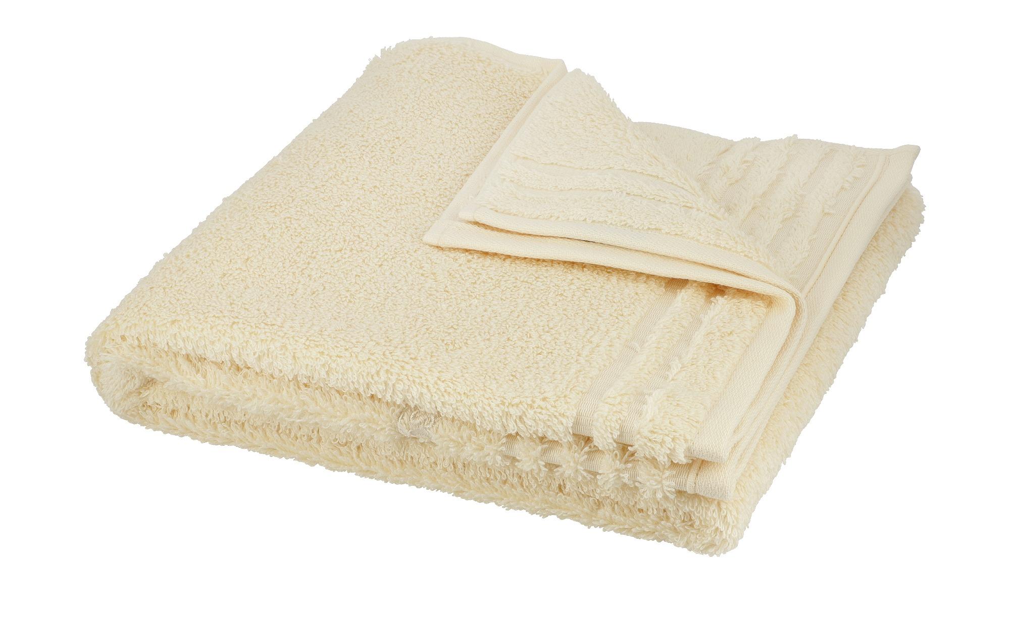 VOSSEN Handtuch  Vienna Supersoft ¦ creme ¦ 100% Baumwolle ¦ Maße (cm): B: 50 Badtextilien und Zubehör > Handtücher & Badetücher > Handtücher - Höffner