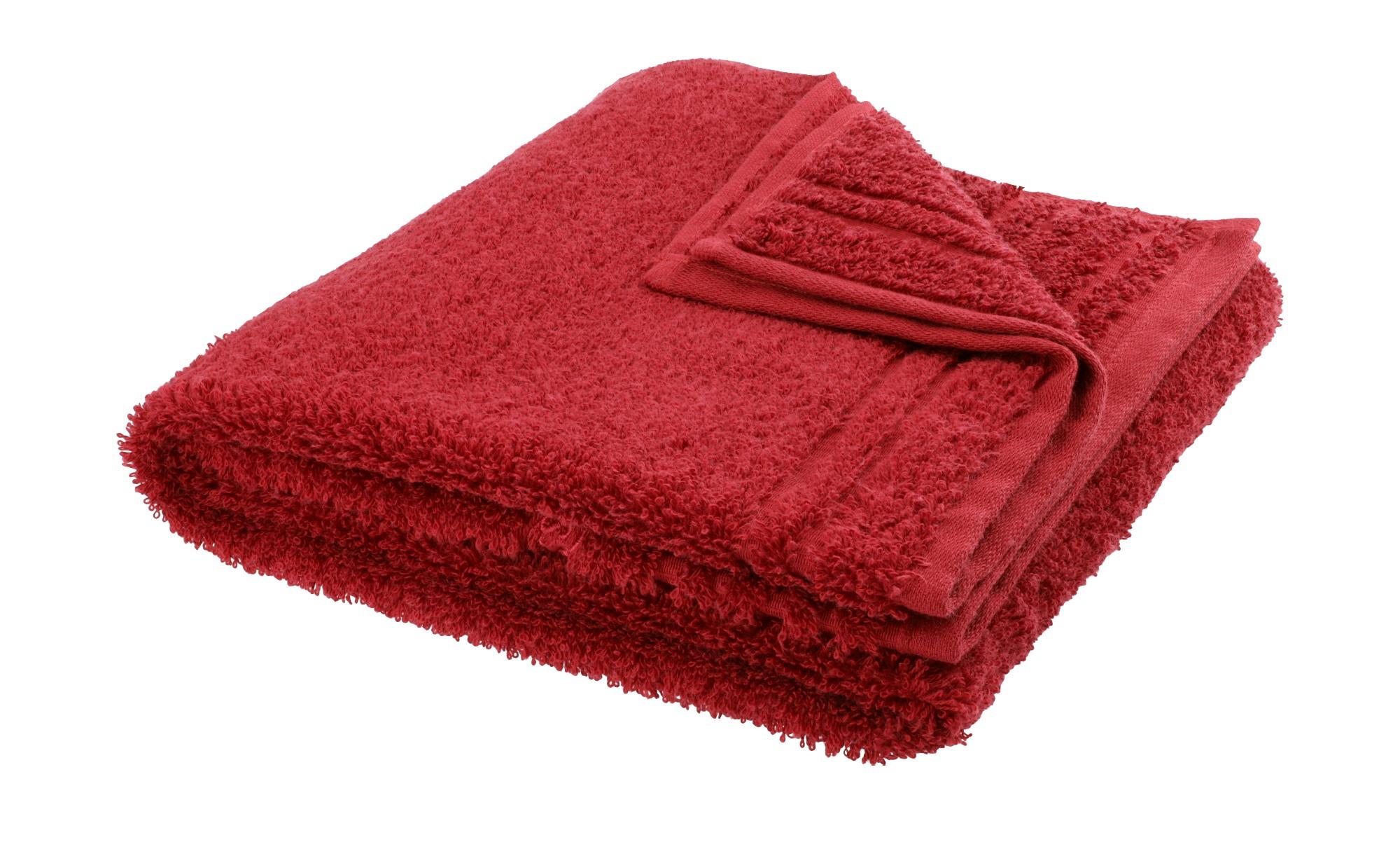 VOSSEN Handtuch  Vienna Supersoft ¦ rot ¦ 100% Baumwolle ¦ Maße (cm): B: 50 Badtextilien und Zubehör > Handtücher & Badetücher > Handtücher - Höffner