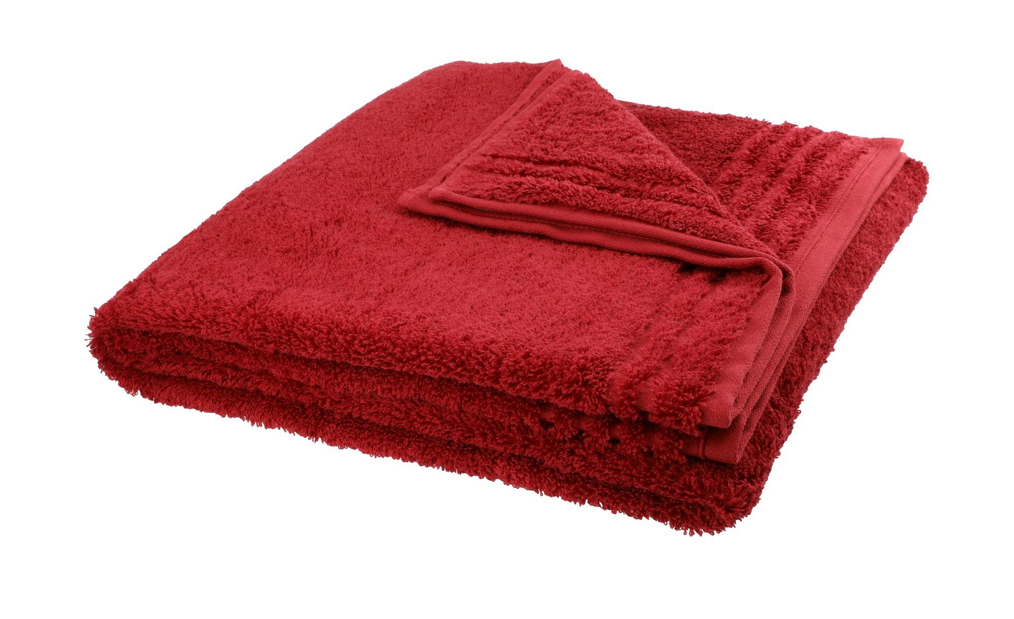 VOSSEN Duschtuch  Vienna Supersoft ¦ rot ¦ 100% Baumwolle ¦ Maße (cm): B: 67 Badtextilien und Zubehör > Handtücher & Badetücher > Duschtücher - Höffner