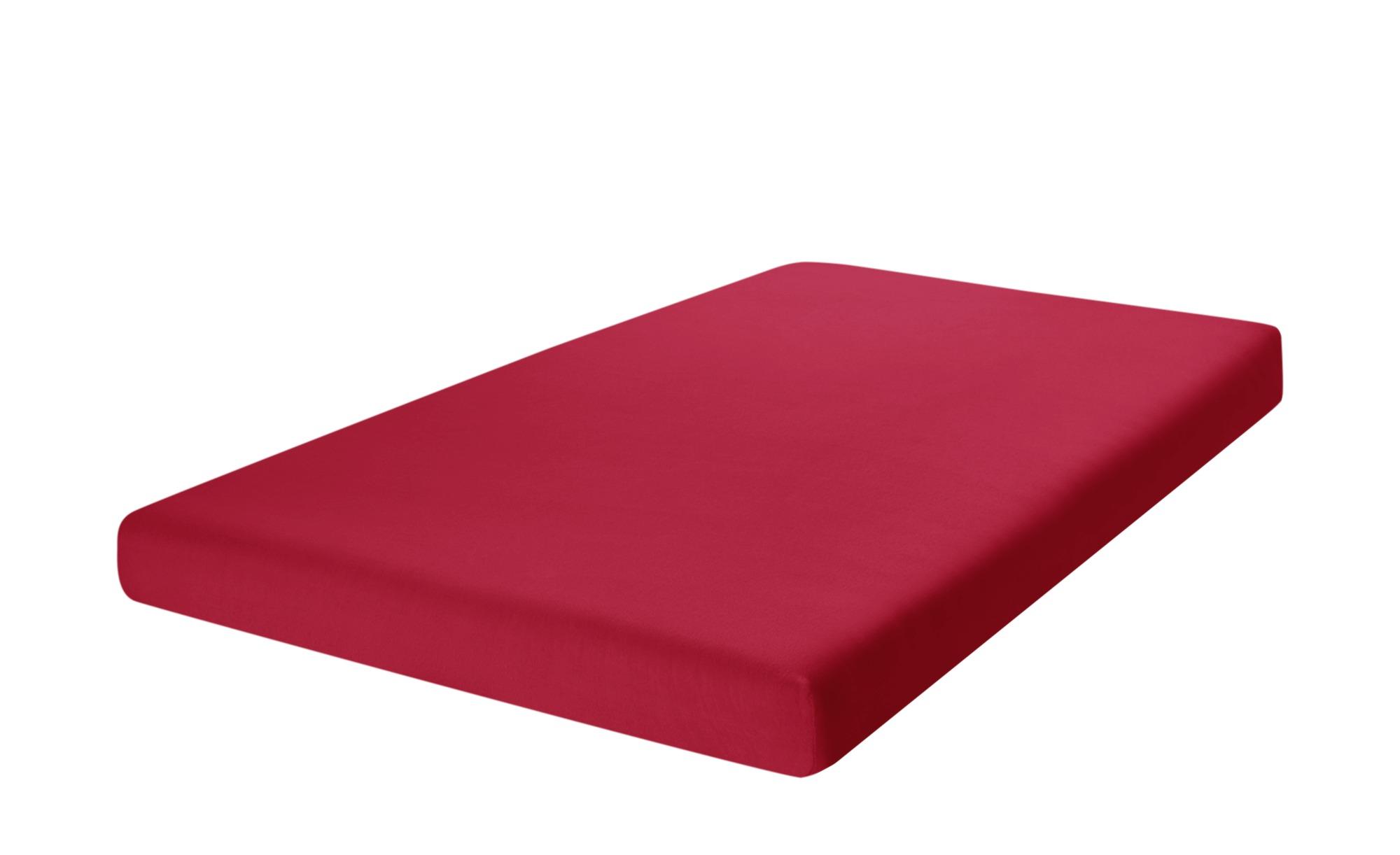 como Spannbetttuch  Uni Jersey 2010 ¦ rot ¦ 100% Baumwolle ¦ Maße (cm): B: 90 Bettwaren > Bettlaken > Sonstige Spannbettlaken - Höffner