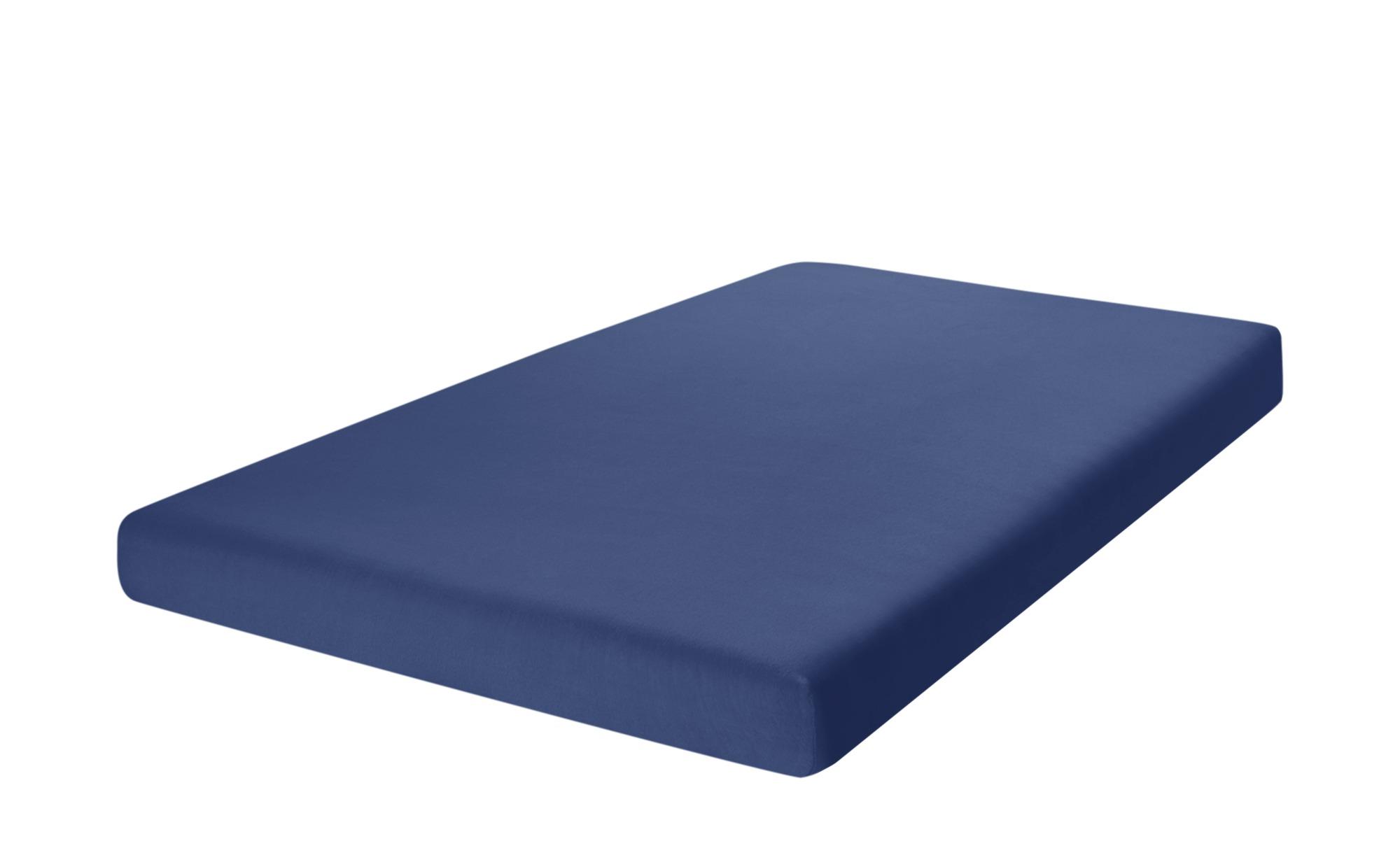 como Spannbetttuch  Uni Jersey 2010 ¦ blau ¦ 100% Baumwolle ¦ Maße (cm): B: 90 Bettwaren > Bettlaken > Sonstige Spannbettlaken - Höffner