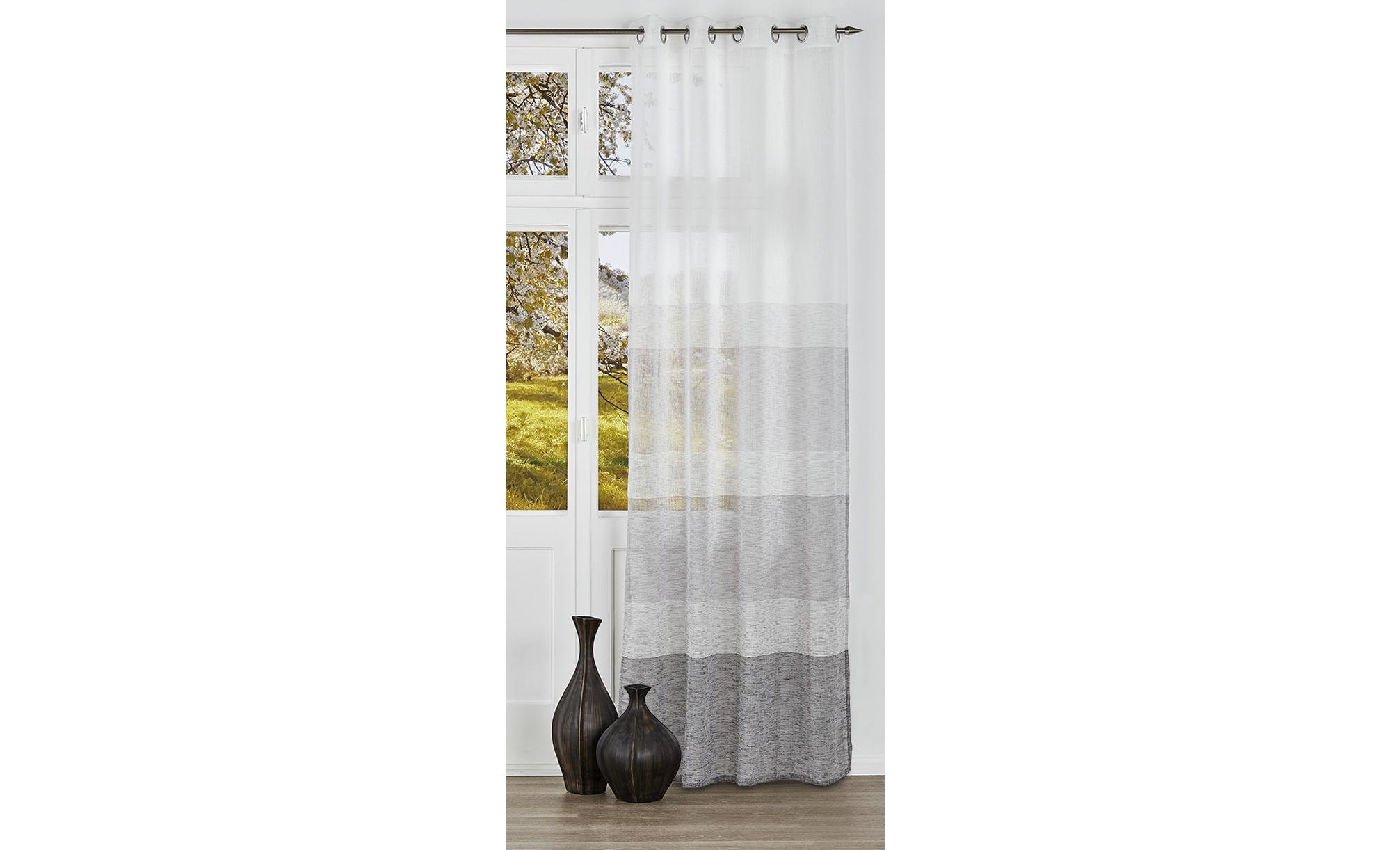 como Ösenschal  Toni ¦ grau ¦ 100% Polyester ¦ Maße (cm): B: 140 H: 245 Gardinen & Vorhänge > Gardinen & Fertigstore > Ösenschals - Höffner