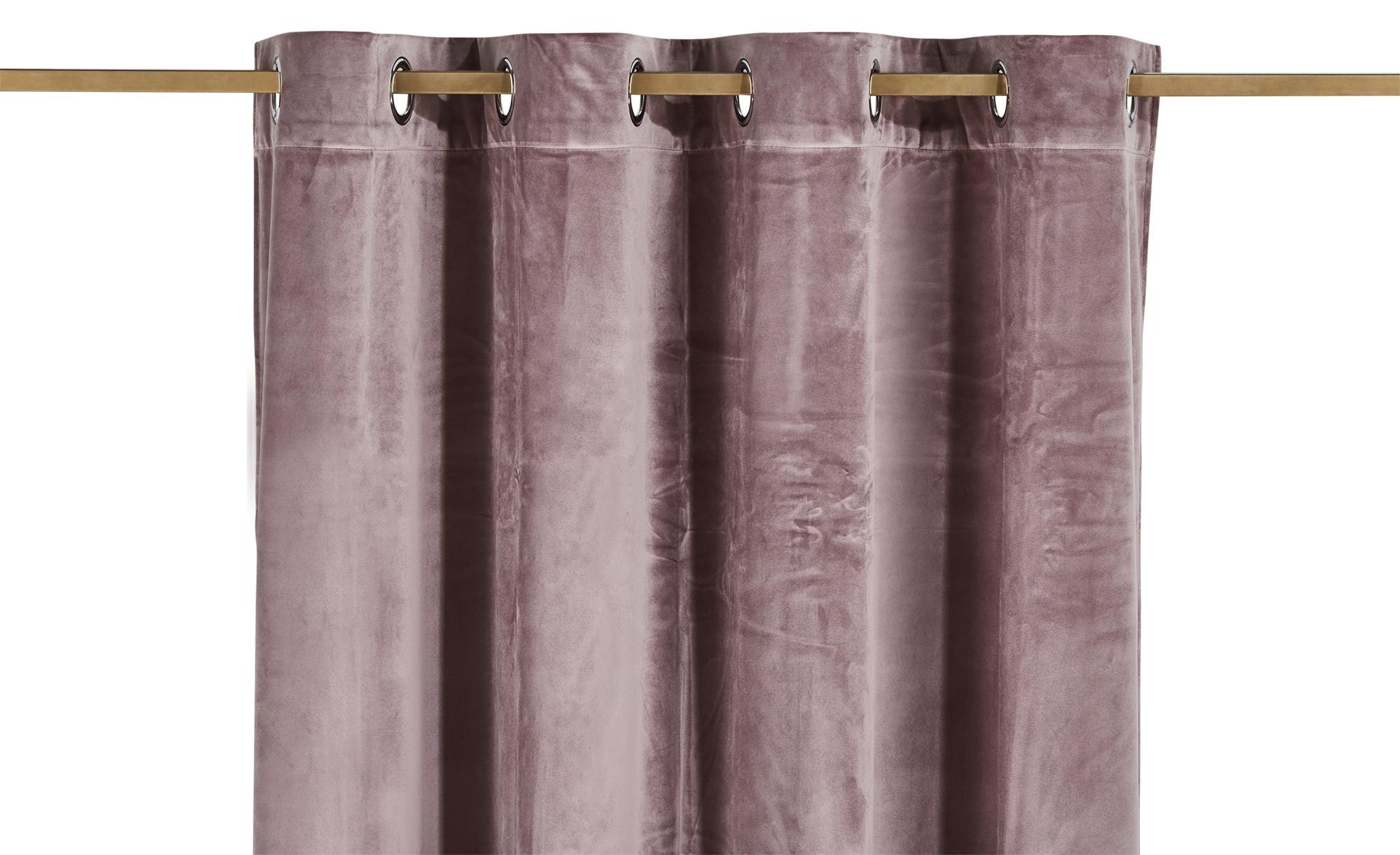 como Ösenschal  Charlotte ¦ rosa/pink ¦ 100% Polyester ¦ Maße (cm): B: 140 H: 245 Gardinen & Vorhänge > Gardinen & Fertigstore > Ösenschals - Höffner