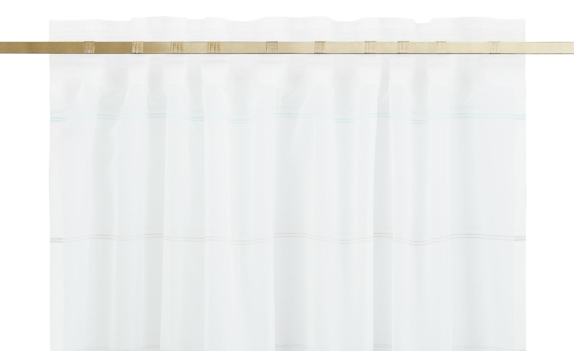 como Verdeckter Schlaufenschal  Sandra ¦ blau ¦ 99% Polyester, 1% Polyacryl ¦ Maße (cm): B: 140 H: 245 Gardinen & Vorhänge > Gardinen & Fertigstore > Schals mit verdeckter Schlaufe - Höffner