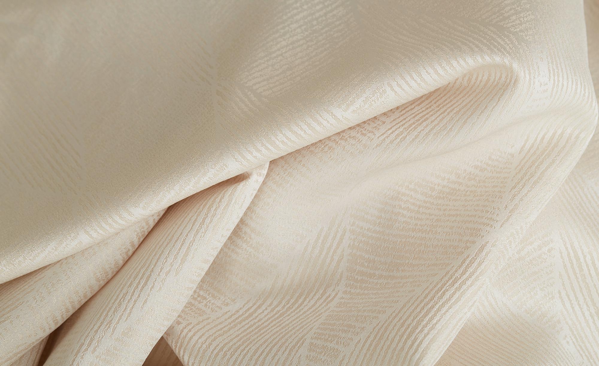 como Ösenschal  Saskia ¦ beige ¦ 100% Polyester ¦ Maße (cm): B: 140 H: 245 Gardinen & Vorhänge > Gardinen & Fertigstore > Ösenschals - Höffner