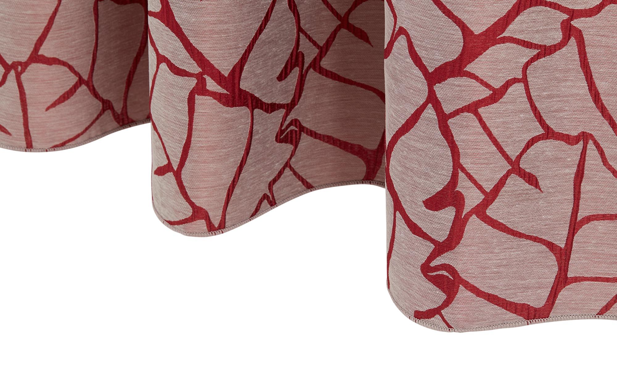 Verdeckter Schlaufenschal ¦ rot ¦ 100% Polyester ¦ Maße (cm): B: 145 Gardinen & Vorhänge > Gardinen & Fertigstore > Schals mit verdeckter Schlaufe - Höffner