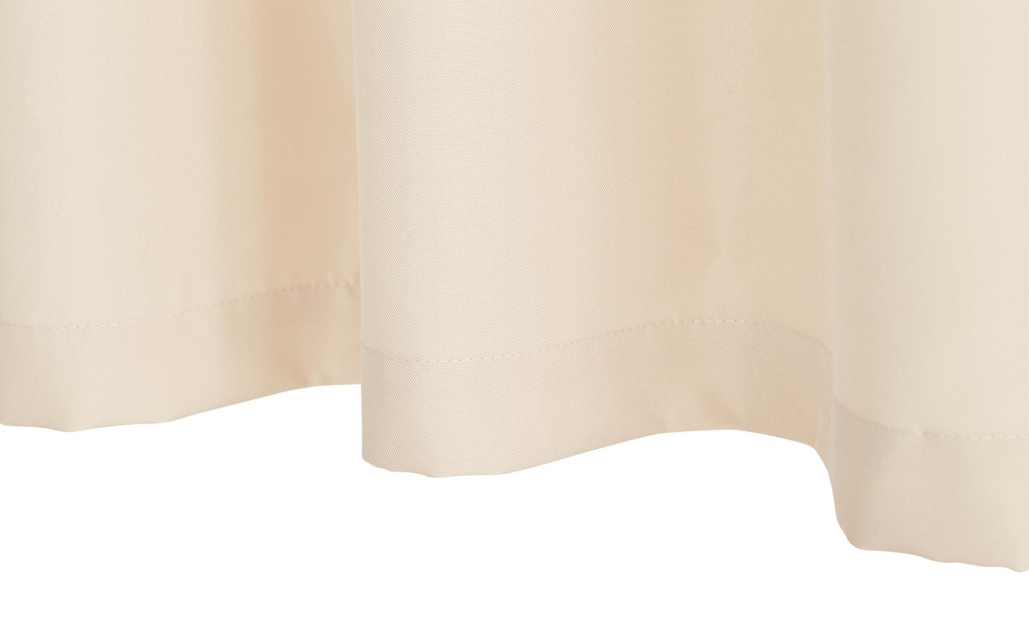 Ösenschal  Valletta ¦ beige ¦ 100% Polyester ¦ Maße (cm): B: 145 H: 245 Gardinen & Vorhänge > Gardinen & Fertigstore > Ösenschals - Höffner