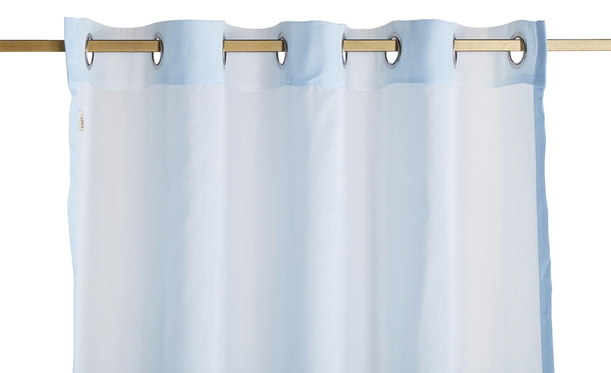 Esprit Ösenschal  E-Vel ¦ blau ¦ 100% Polyester ¦ Maße (cm): B: 140 Gardinen & Vorhänge > Gardinen & Fertigstore > Ösenschals - Höffner