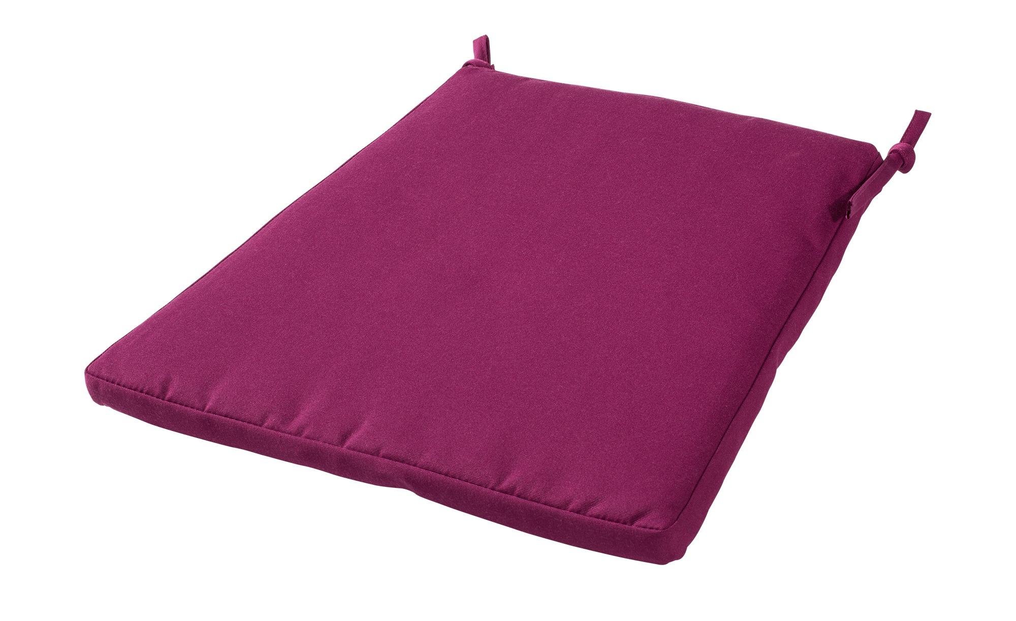 Zebra Sitzkissen  Milano ¦ lila/violett ¦ 100% Polyester ¦ Maße (cm): B: 44 H: 2,5 Garten > Auflagen & Kissen > Outdoor-Sitzkissen - Höffner
