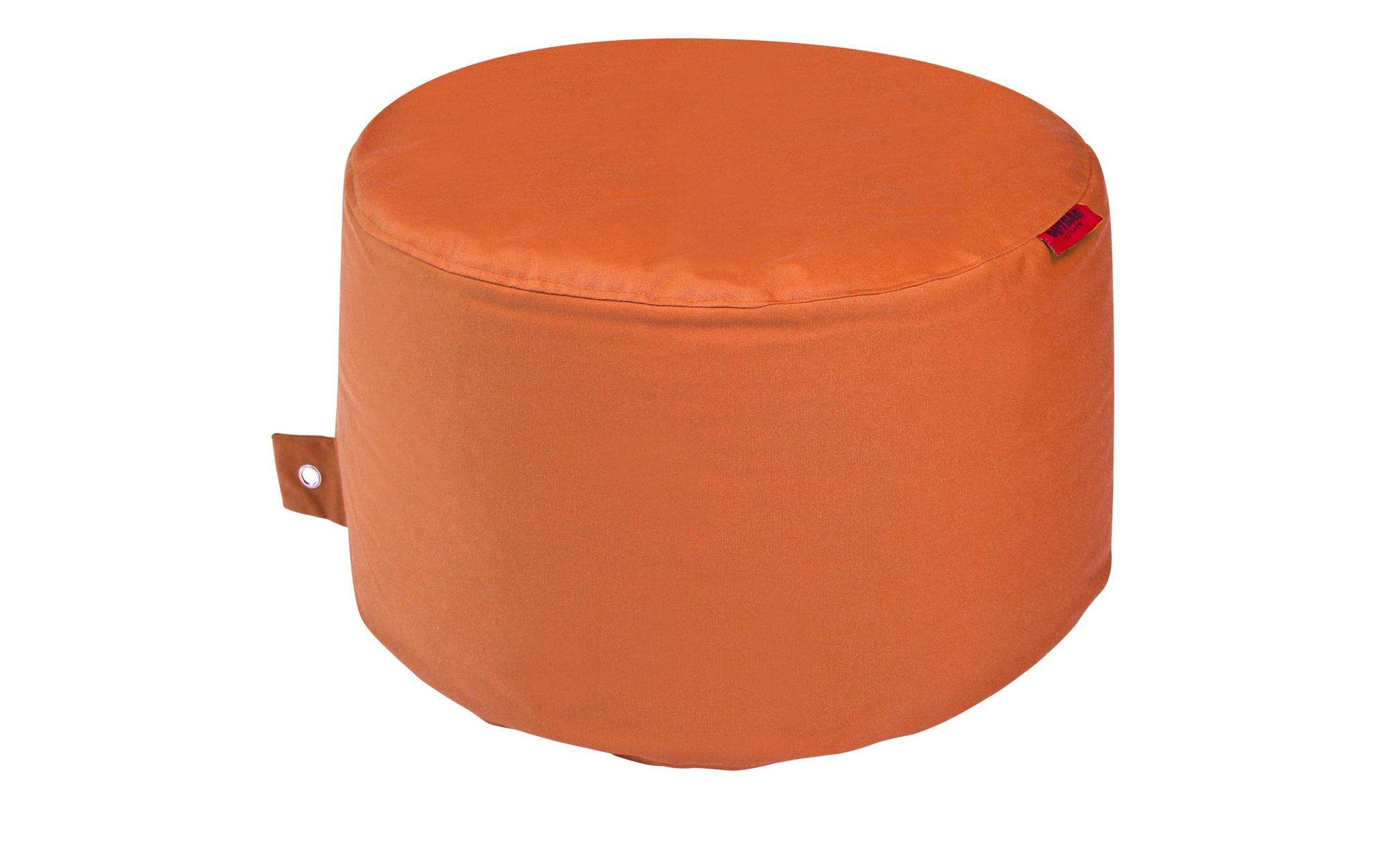 Sitzsack  Rock Plus ¦ orange ¦ Maße (cm): H: 35 Ø: [60.0] Garten > Auflagen & Kissen > Outdoor-Sitzsäcke - Höffner