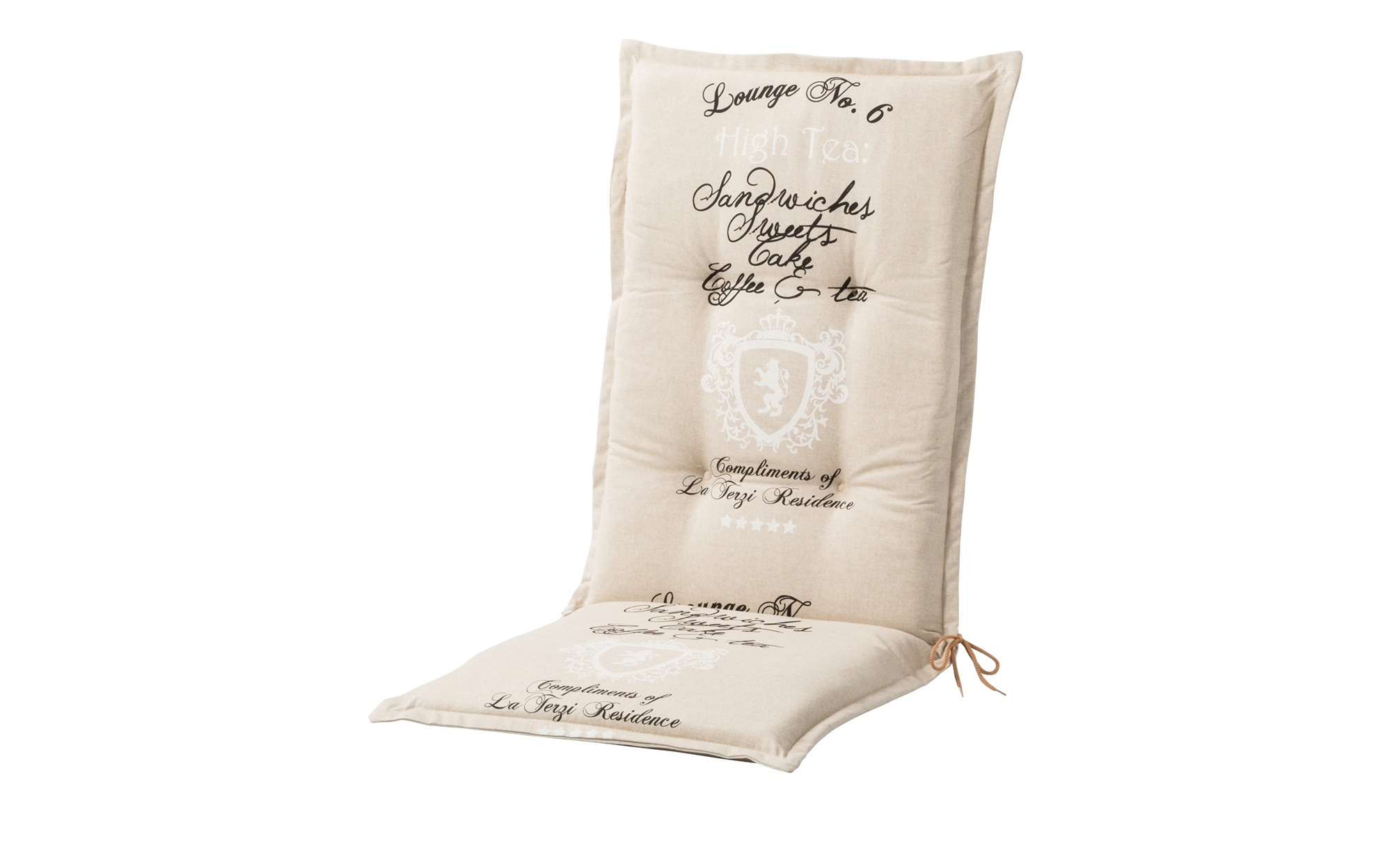 Hochlehnerauflage  High Tea Sand ¦ beige ¦ Mischgewebe, 85% Baumwolle, 15% Polyester ¦ Maße (cm): B: 50 H: 7 Garten > Auflagen & Kissen > Hochlehner-Auflagen - Höffner