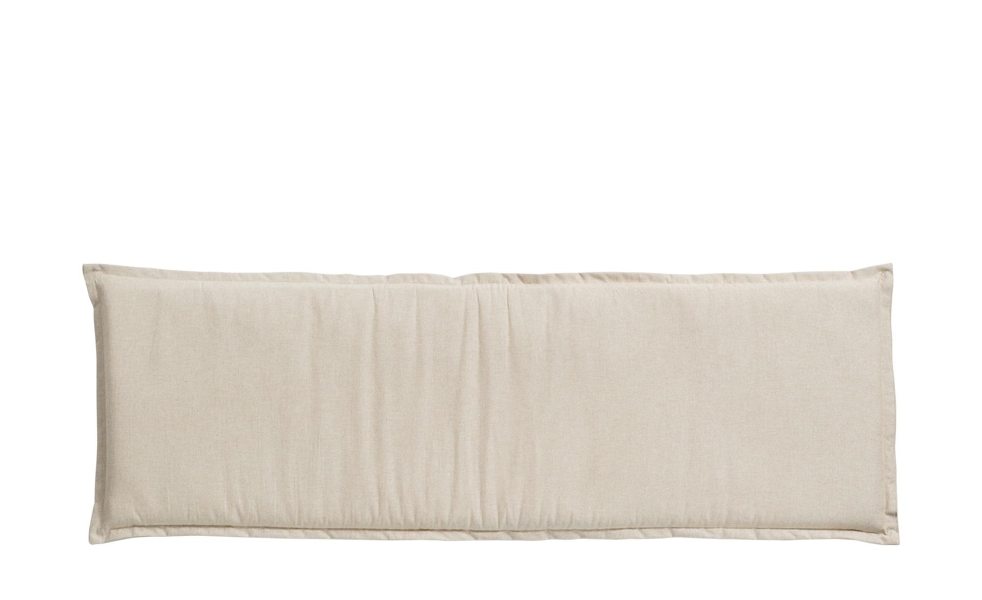 Dreisitzer-Bankauflage  High Tea Sand ¦ beige ¦ Mischgewebe, 85% Baumwolle, 15% Polyester ¦ Maße (cm): B: 48 H: 6 Garten > Auflagen & Kissen > Sonstige Sitzkissen - Höffner