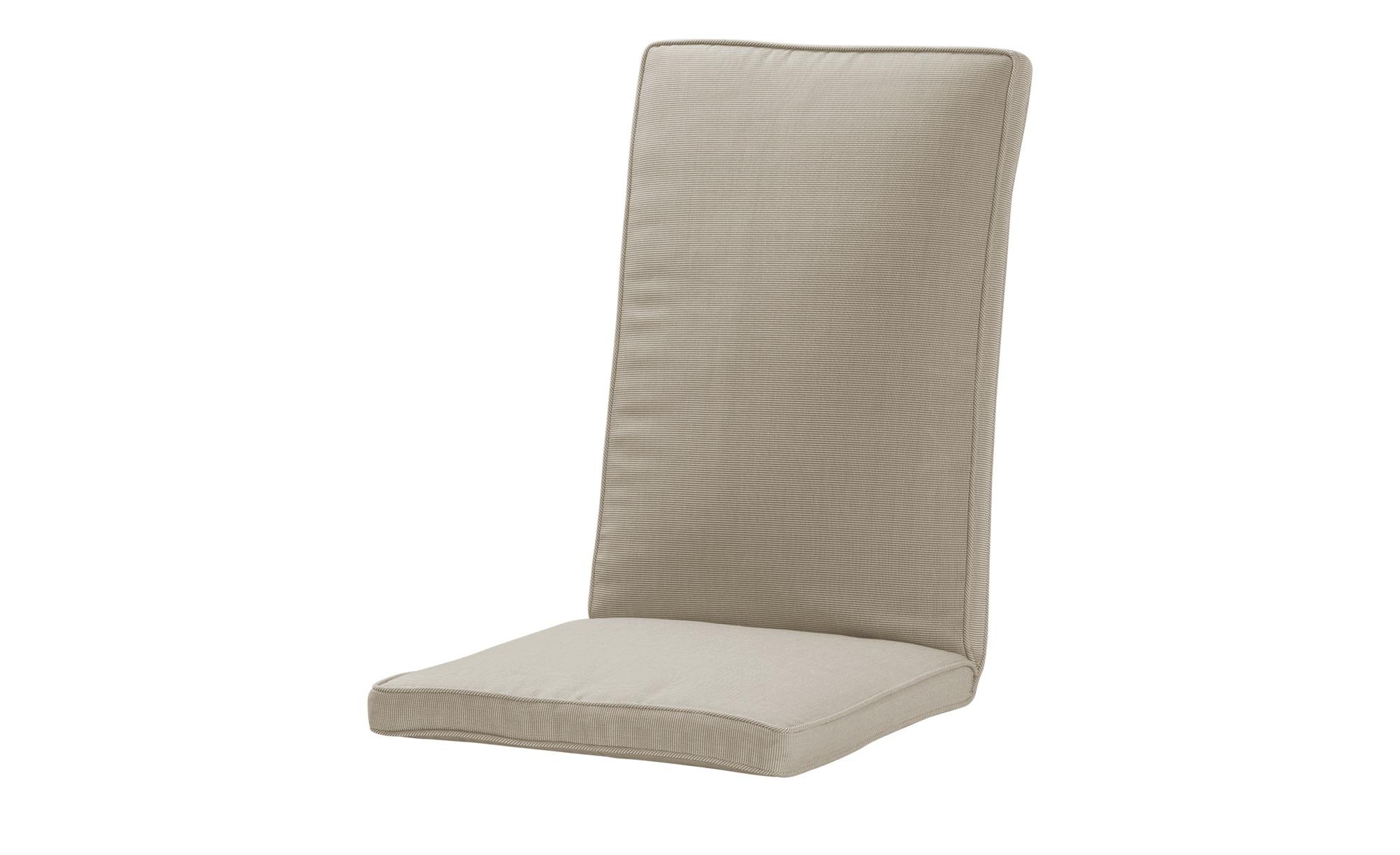Zebra Sitz- und Rückenkissen  Loomus ¦ beige ¦ 100% Polyester ¦ Maße (cm): B: 48 H: 5 Garten > Auflagen & Kissen > Sonstige Sitzkissen - Höffner
