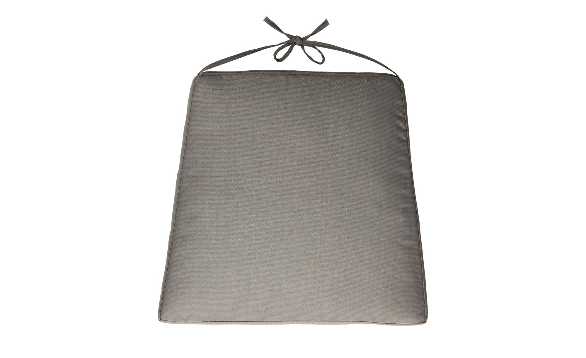 Zebra Sitzkissen  Milano ¦ braun ¦ 100% Polyester ¦ Maße (cm): B: 44 H: 2,5 Garten > Auflagen & Kissen > Outdoor-Sitzkissen - Höffner